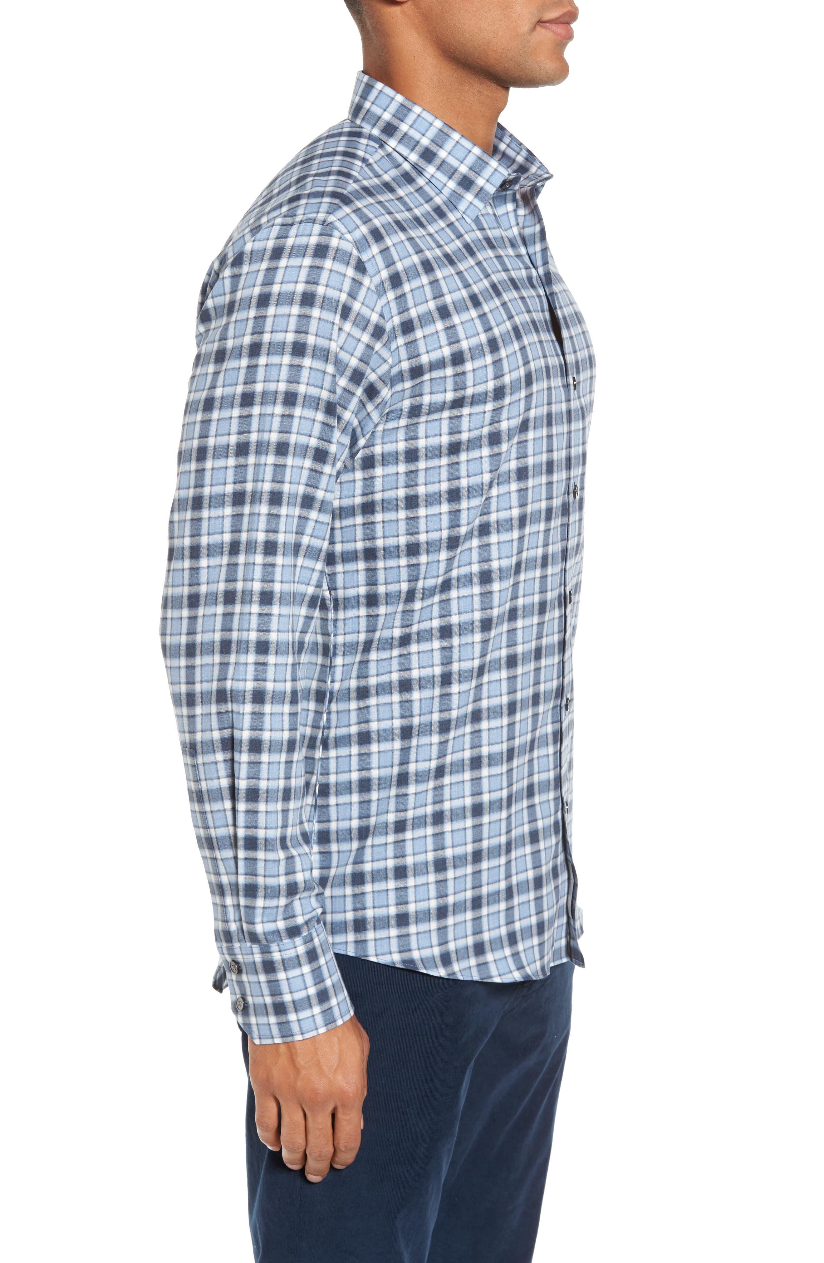 Lobban Slim Fit Check Sport Shirt,                             Alternate thumbnail 3, color,                             452
