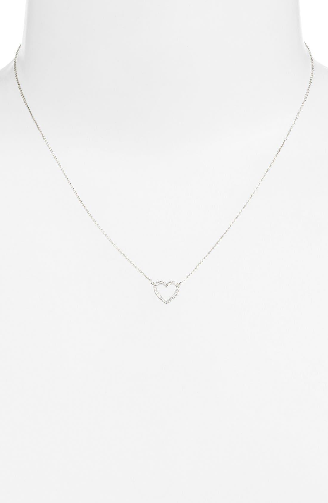 Diamond Heart Pendant Necklace,                             Alternate thumbnail 6, color,                             710