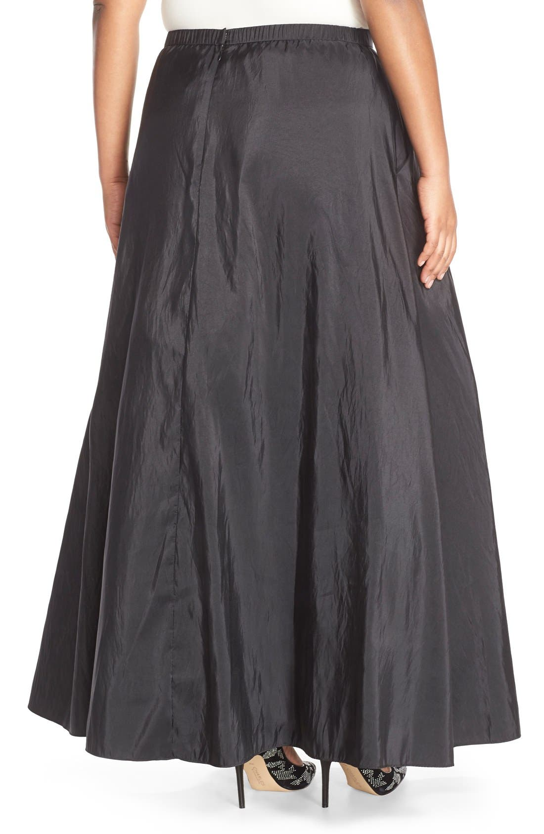 Taffeta Ballgown Skirt,                             Alternate thumbnail 2, color,                             BLACK