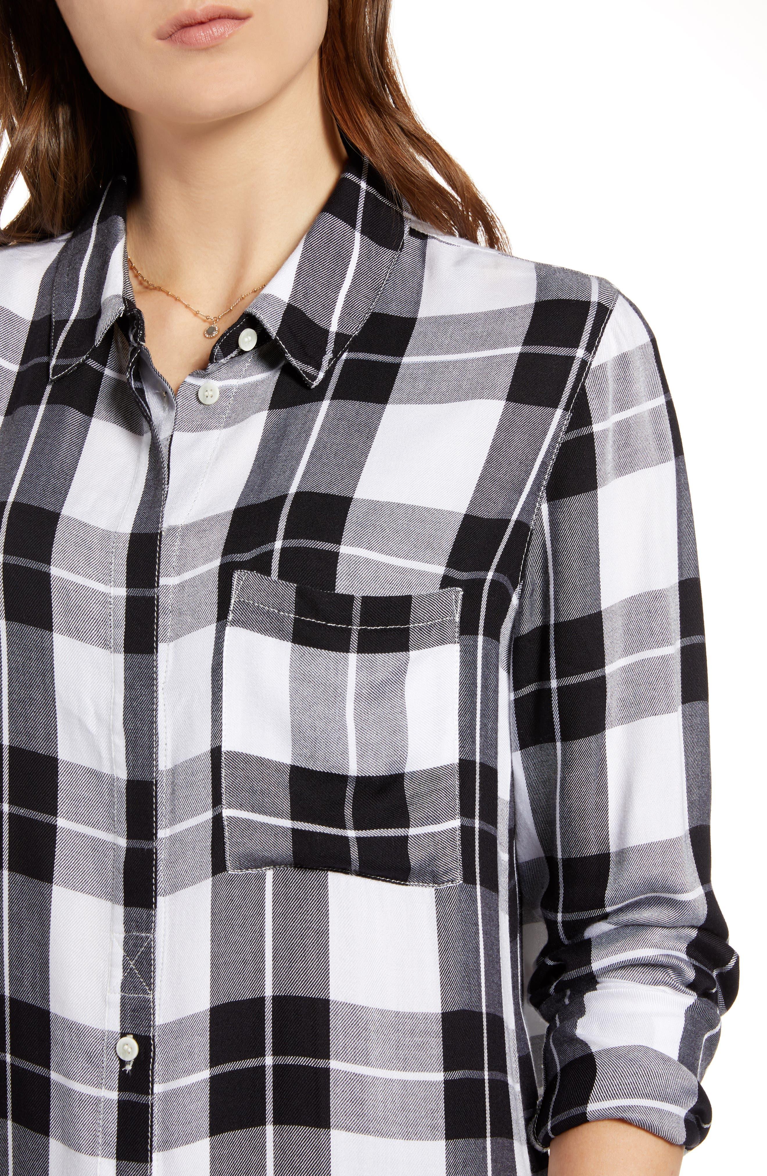 Classic Plaid Shirt,                             Alternate thumbnail 4, color,                             001