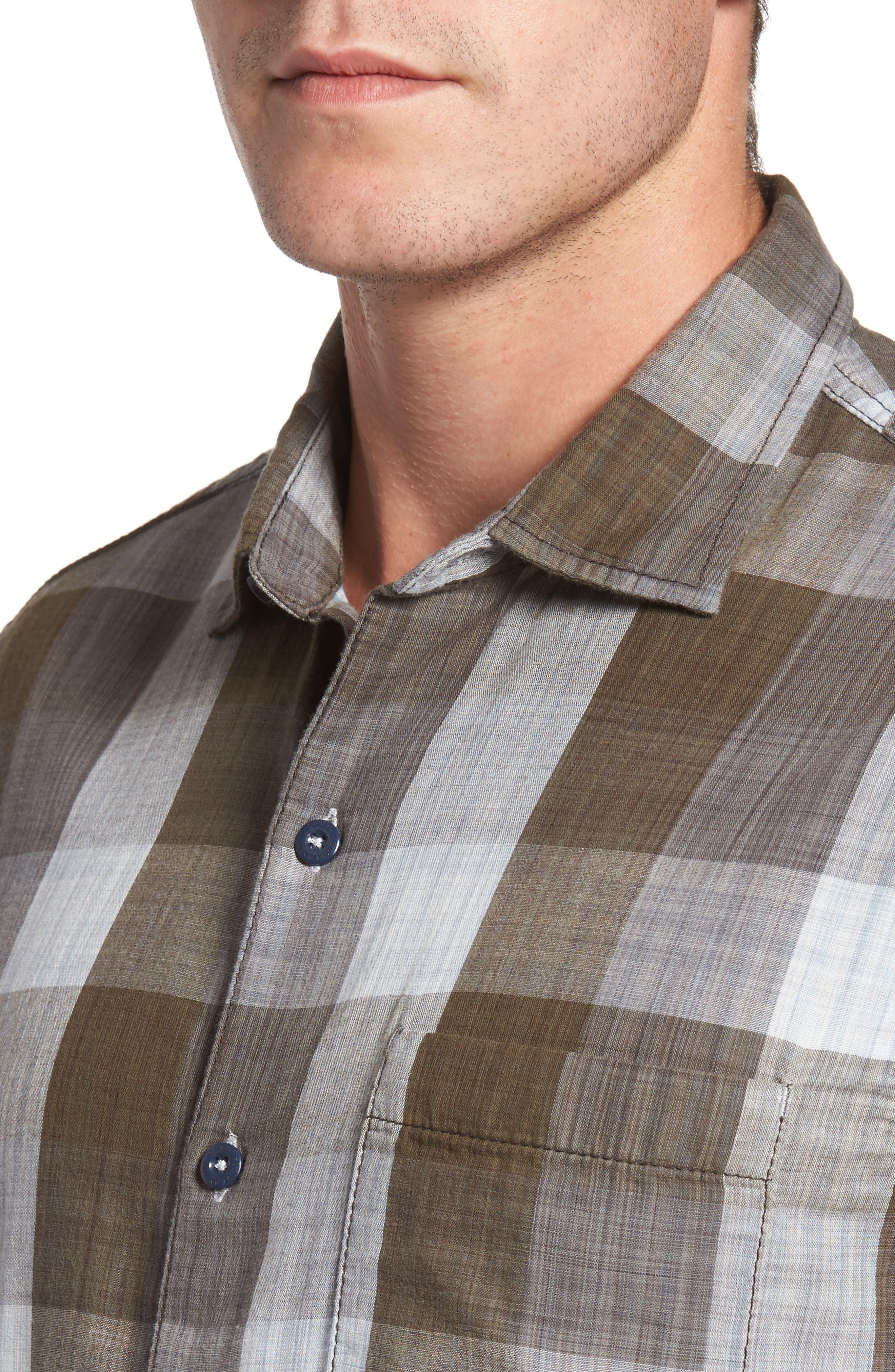Dual Lux Standard Fit Check Sport Shirt,                             Alternate thumbnail 7, color,