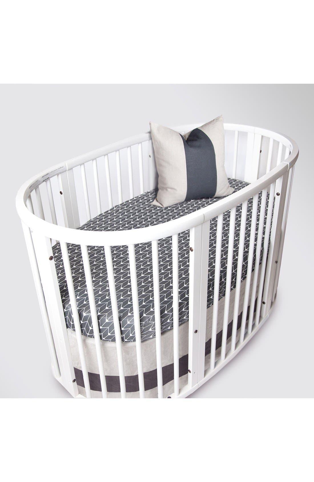 Woven Band Crib Skirt for Stokke Sleepi Crib,                             Main thumbnail 1, color,                             025