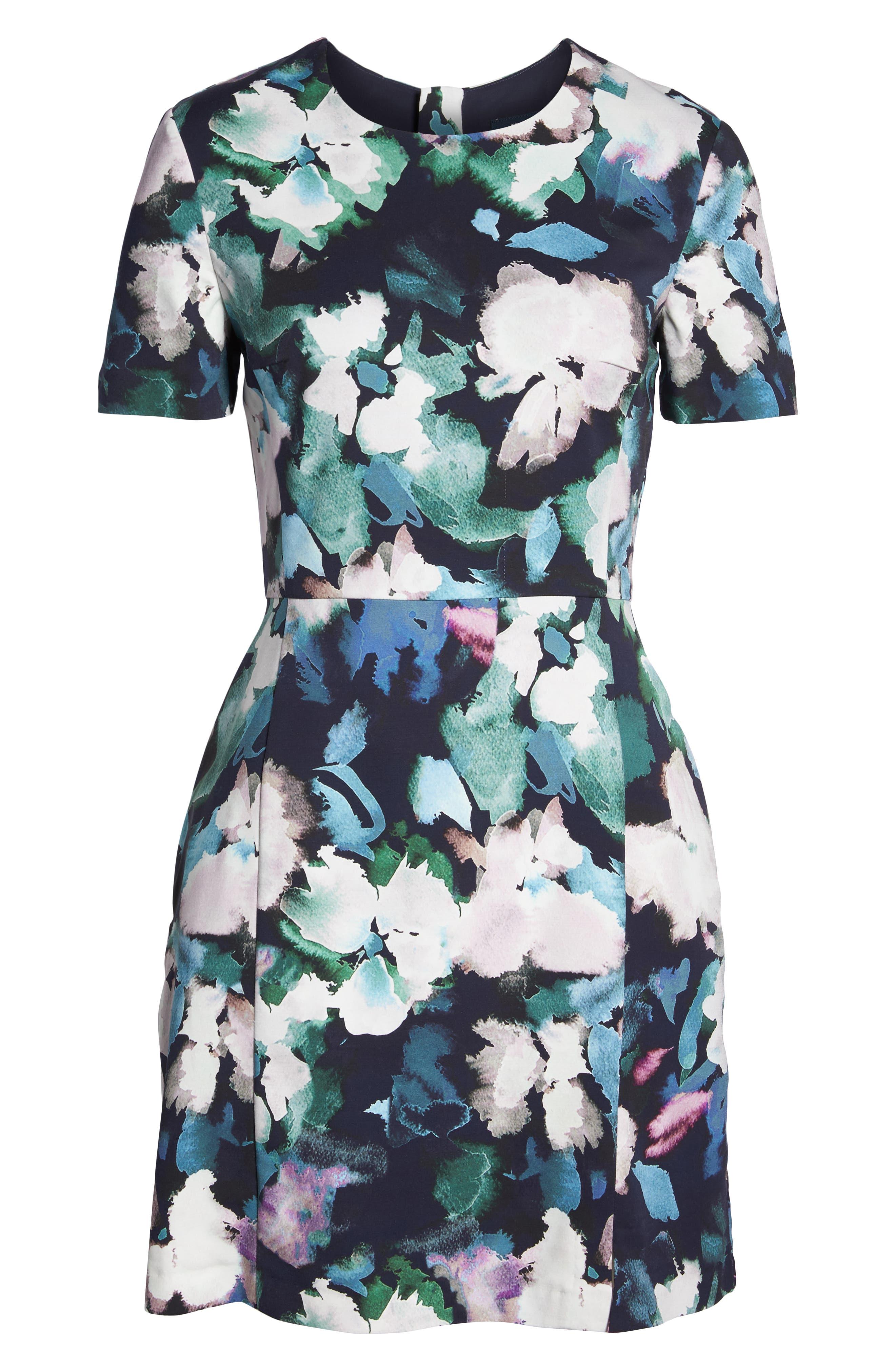 Eleanor Sheath Dress,                             Alternate thumbnail 7, color,                             UTILITY MULTI
