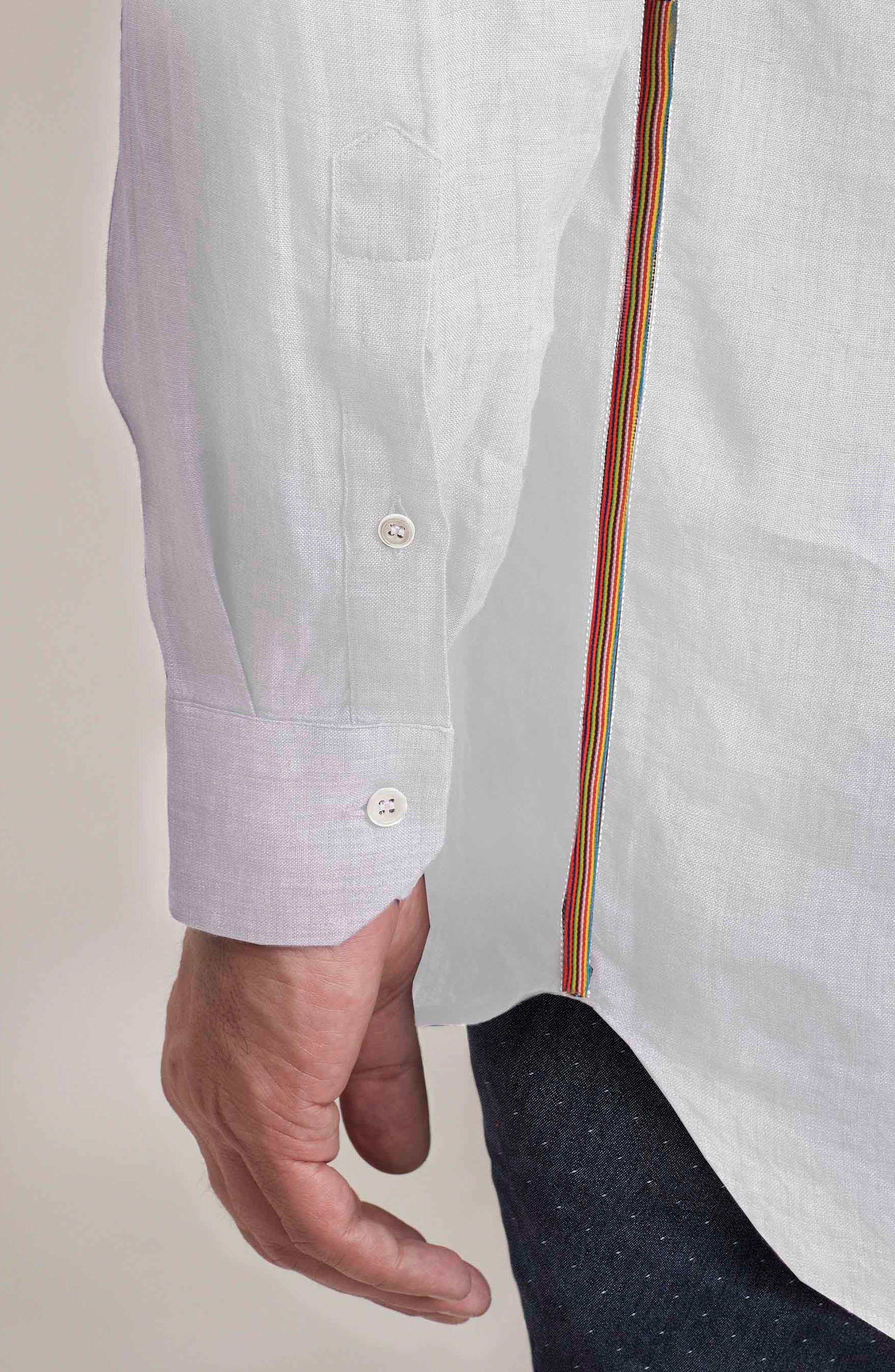 Delave Regular Fit Linen Sport Shirt,                             Alternate thumbnail 6, color,                             100