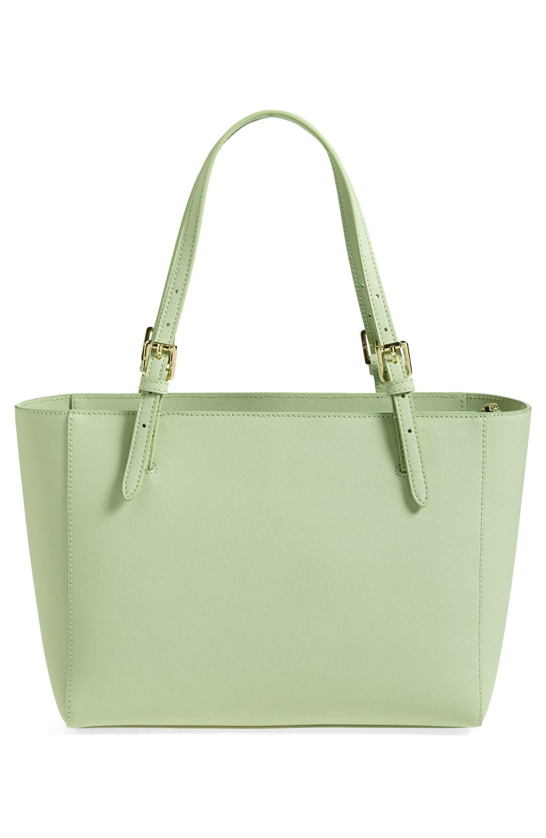 'Small York' Saffiano Leather Buckle Tote,                             Alternate thumbnail 36, color,