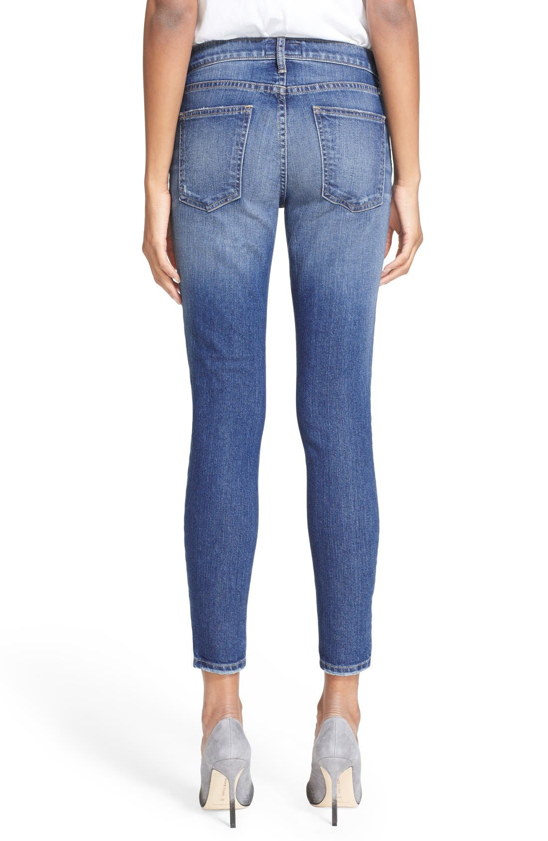 'The Stiletto' Destroyed Skinny Jeans,                             Alternate thumbnail 39, color,