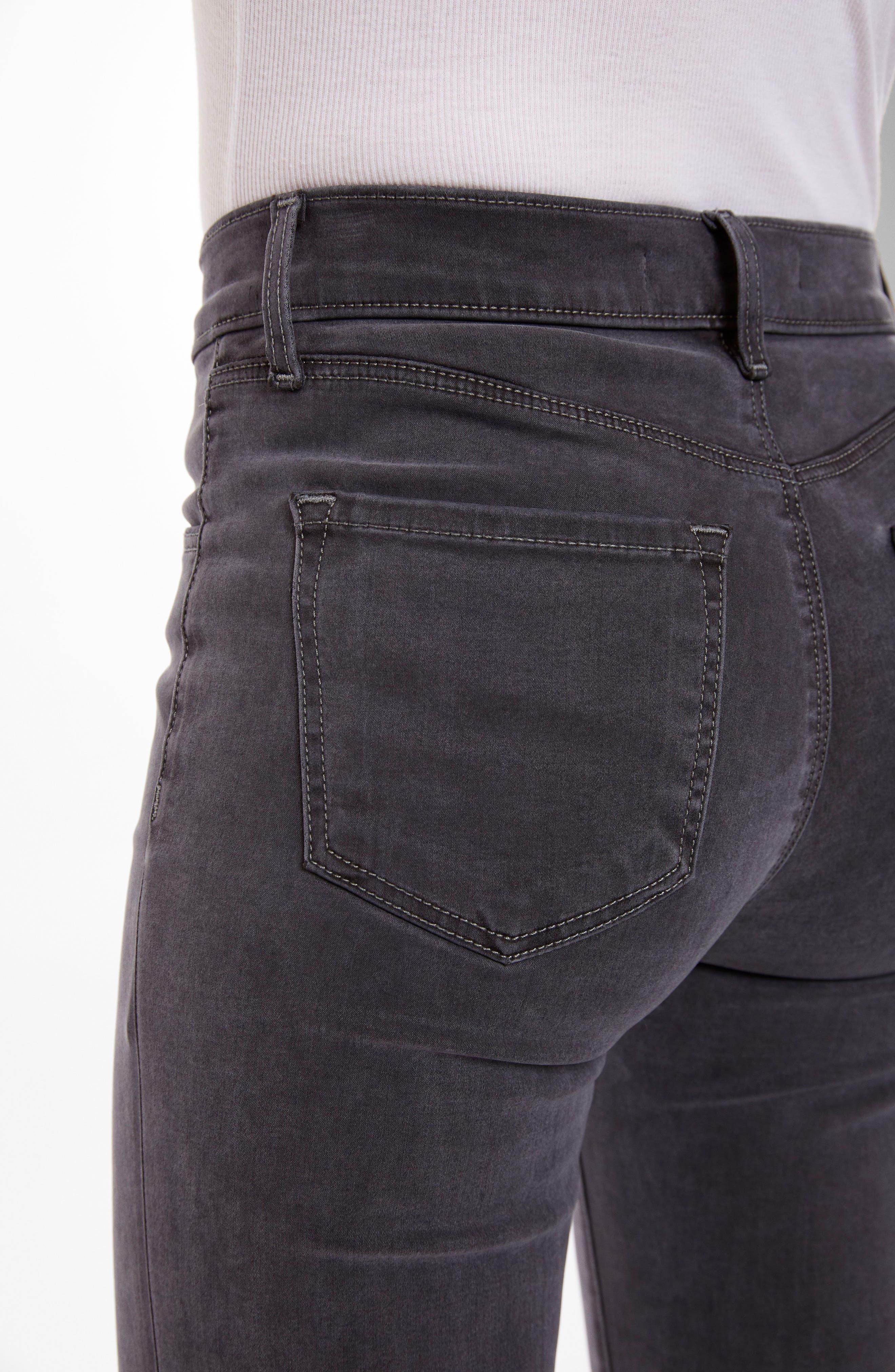 Alana High Waist Crop Skinny Jeans,                             Alternate thumbnail 5, color,                             010
