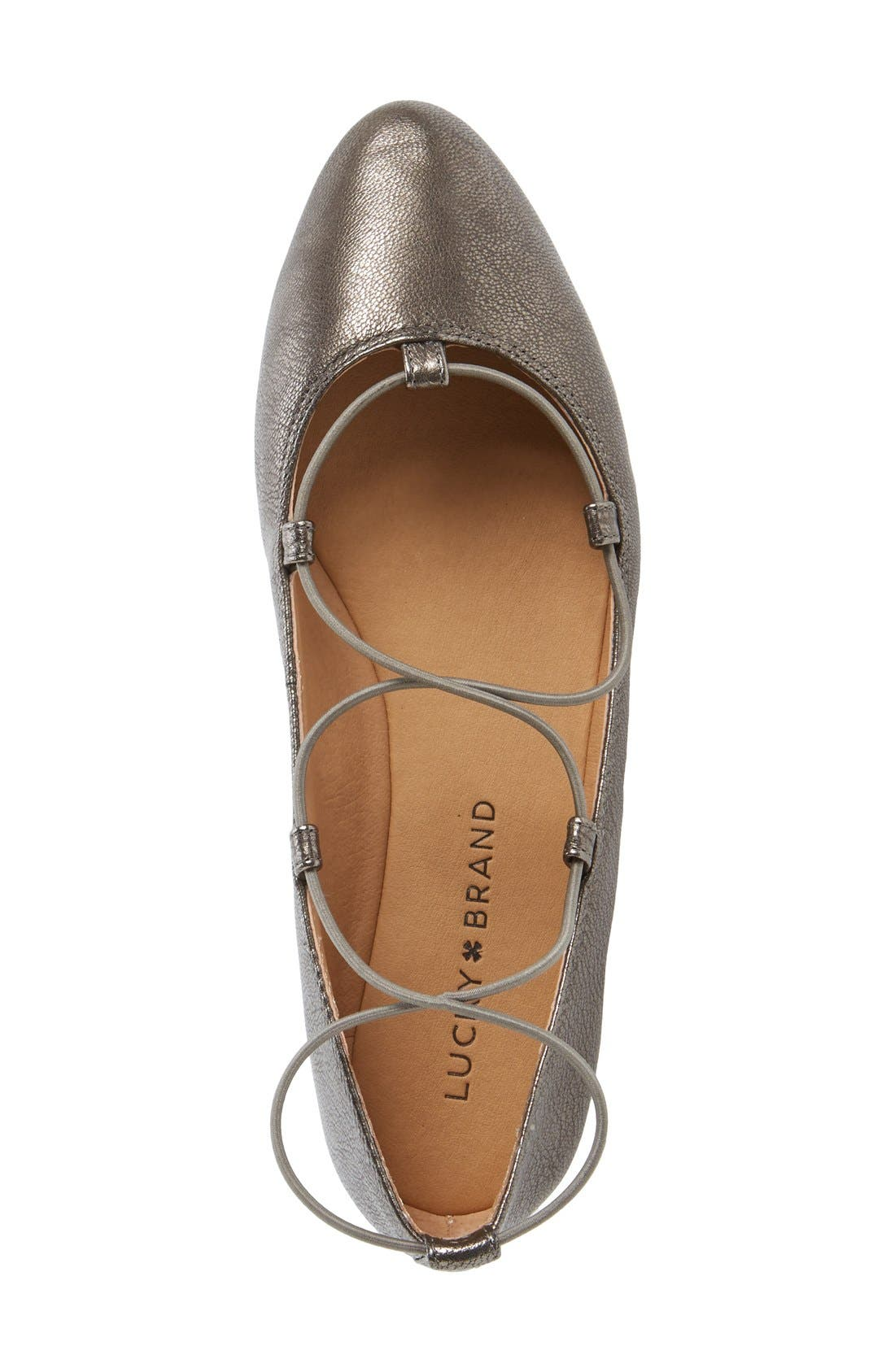 'Aviee' Lace-Up Flat,                             Alternate thumbnail 13, color,