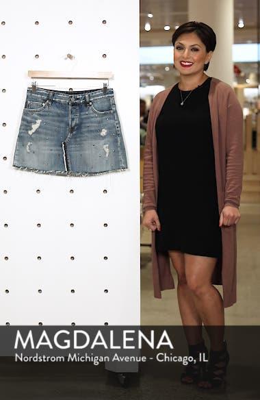 Wynonna Studded Cutoff Denim Miniskirt, sales video thumbnail