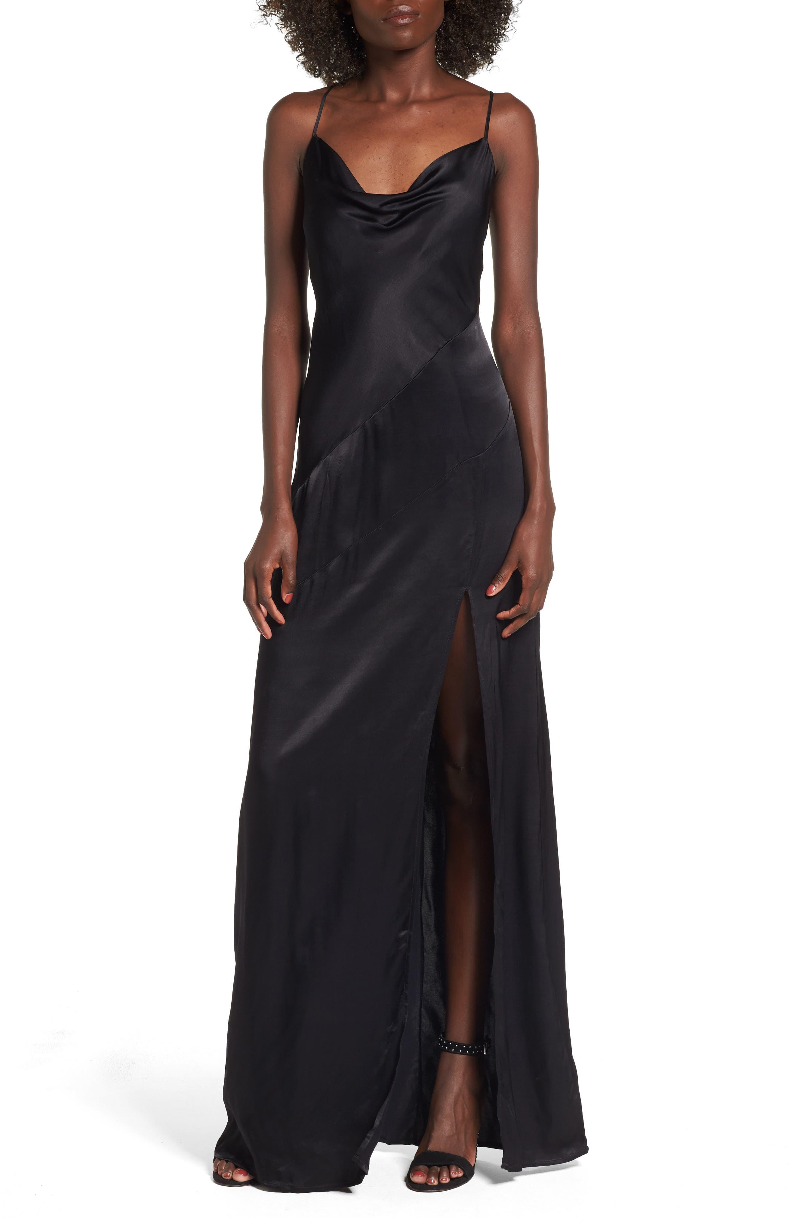 Wyatt Slip Dress,                         Main,                         color, 001