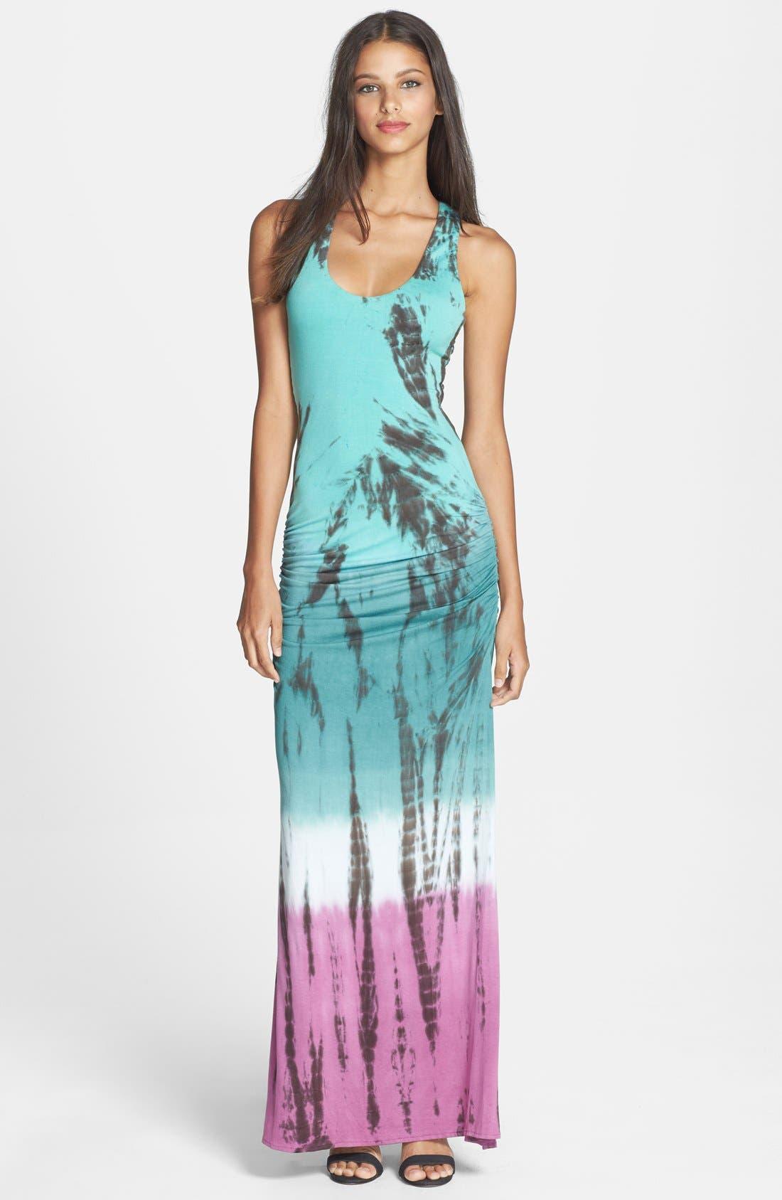 'Larke' Tie Dye Jersey Tank Maxi Dress, Main, color, 300