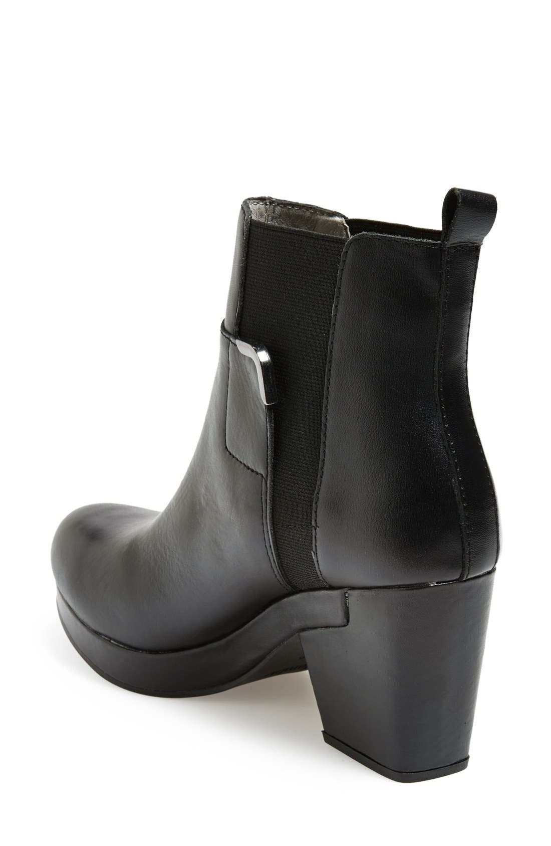'Summit' Leather Bootie,                             Alternate thumbnail 4, color,                             001