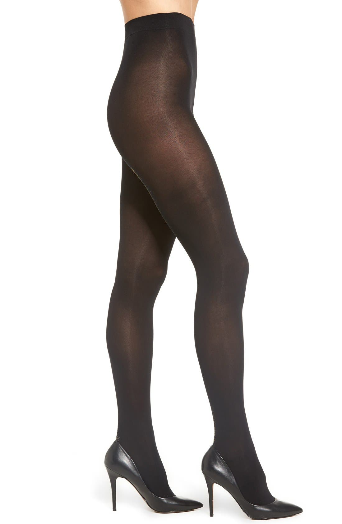 Opaque Tights,                             Main thumbnail 1, color,                             002