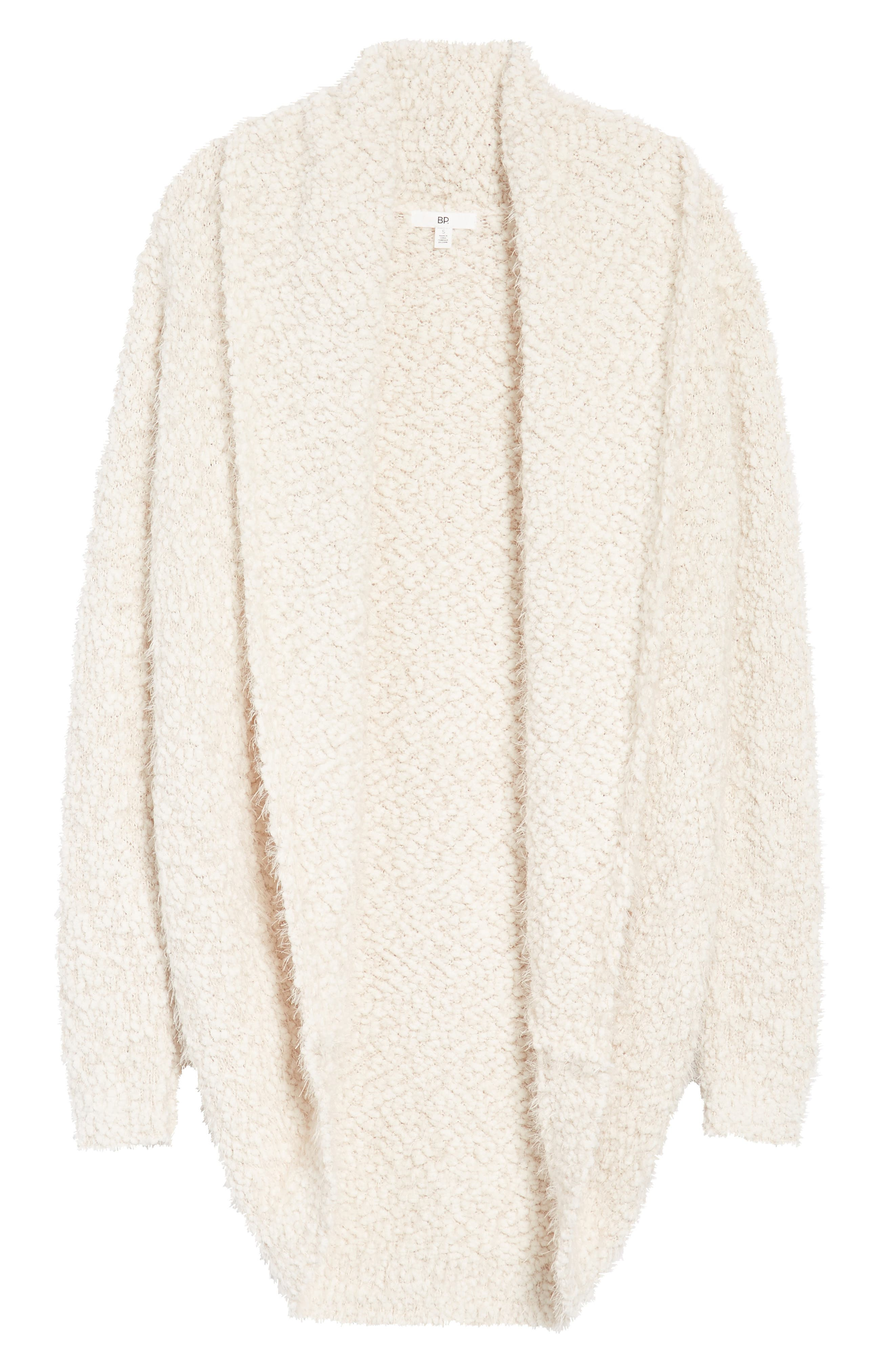 Fluffy Cocoon Cardigan,                             Alternate thumbnail 6, color,