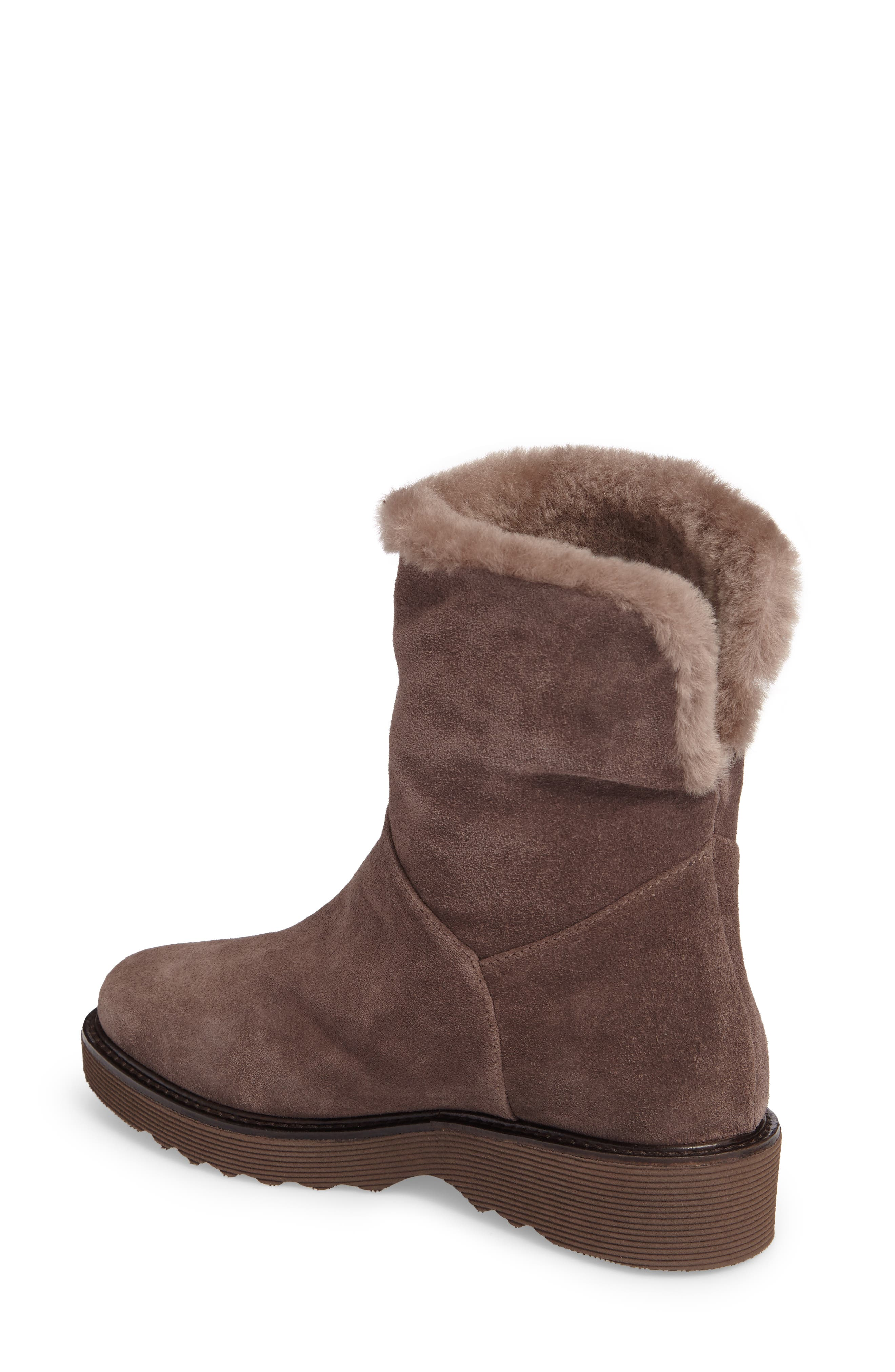 Kimberly Weatherproof Genuine Shearling Bootie,                             Alternate thumbnail 7, color,
