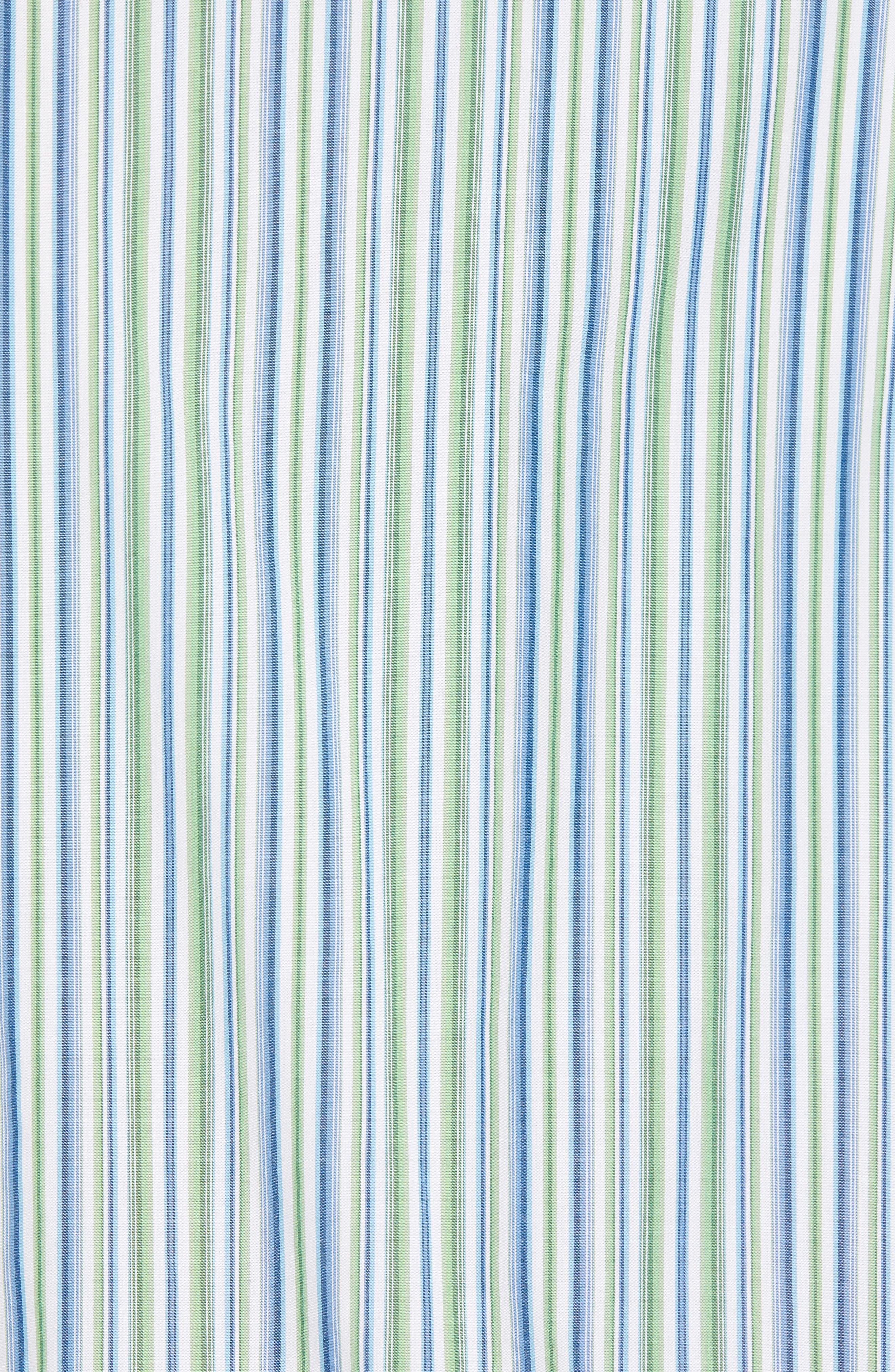 Regular Fit Stripe Sport Shirt,                             Alternate thumbnail 5, color,                             300