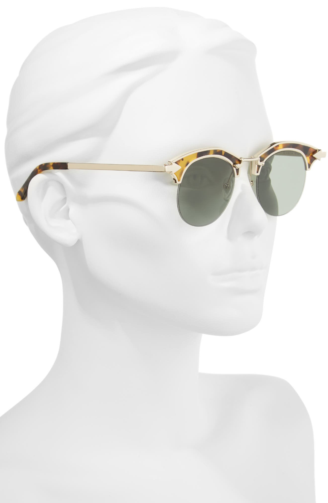 Buccaneer 47mm Round Sunglasses,                             Alternate thumbnail 5, color,