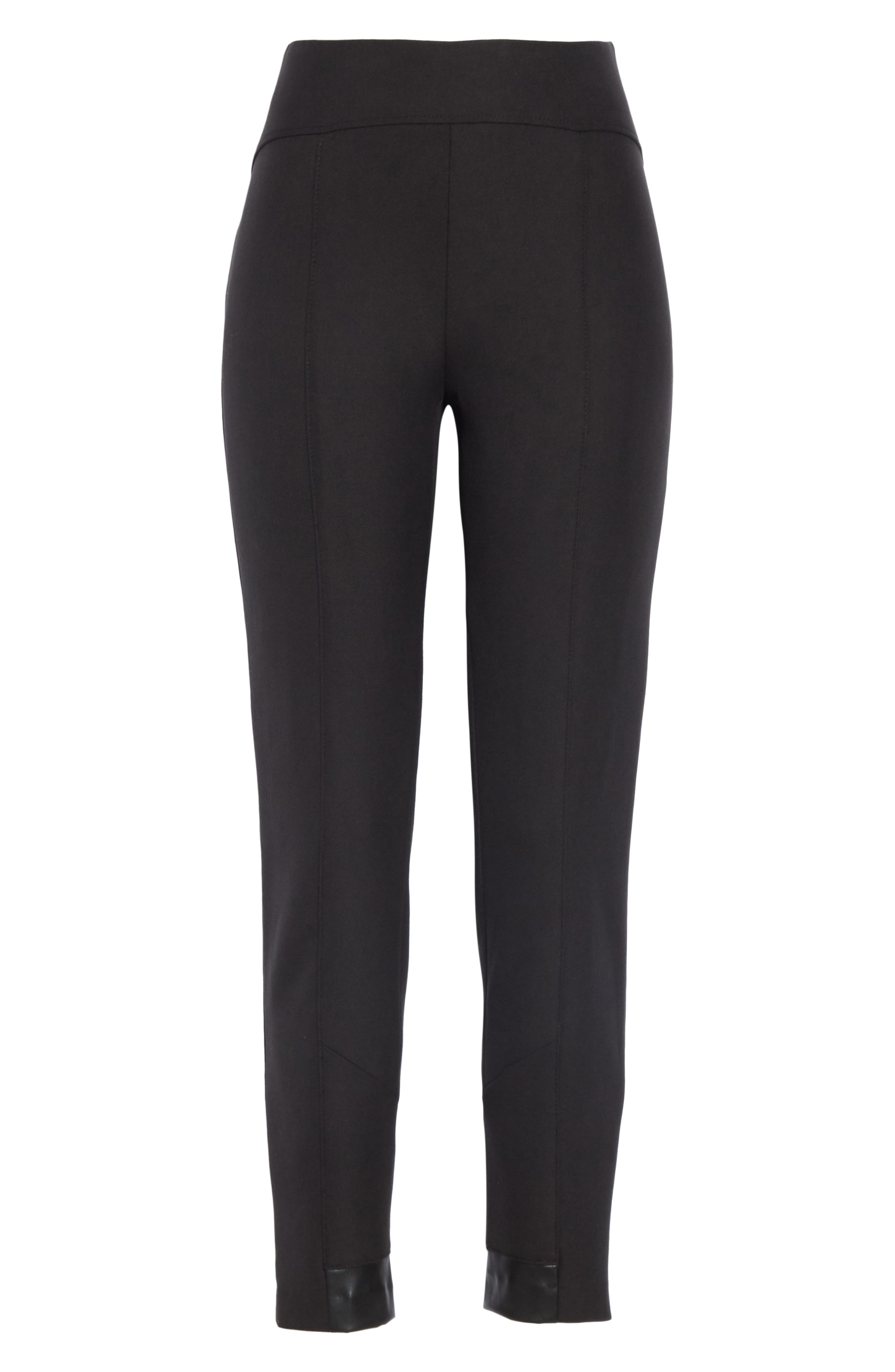BOSS,                             Tileta Slim Leg Trousers,                             Alternate thumbnail 6, color,                             001