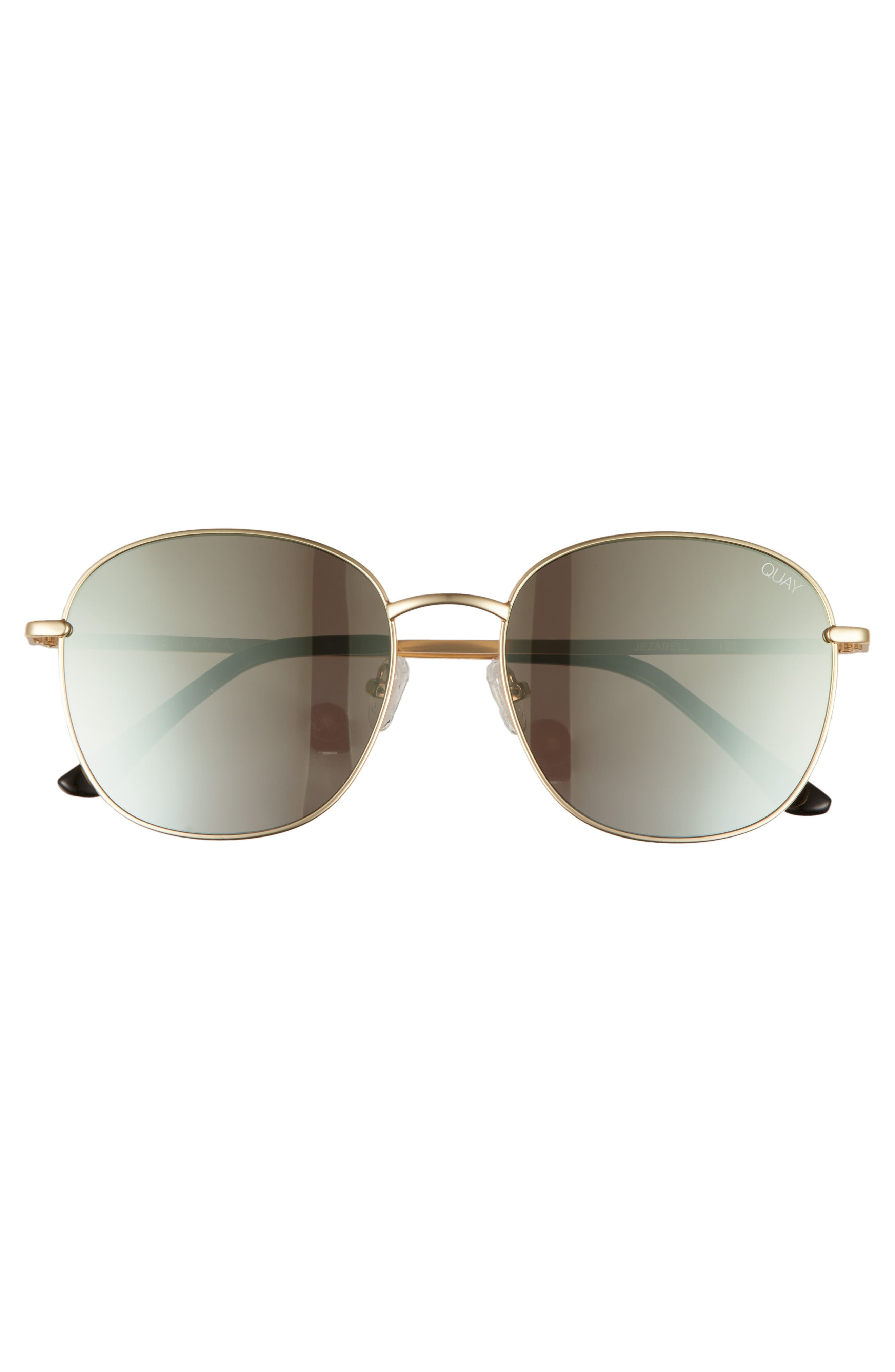 Jezabell 57mm Round Sunglasses,                             Alternate thumbnail 3, color,                             GOLD/ GOLD