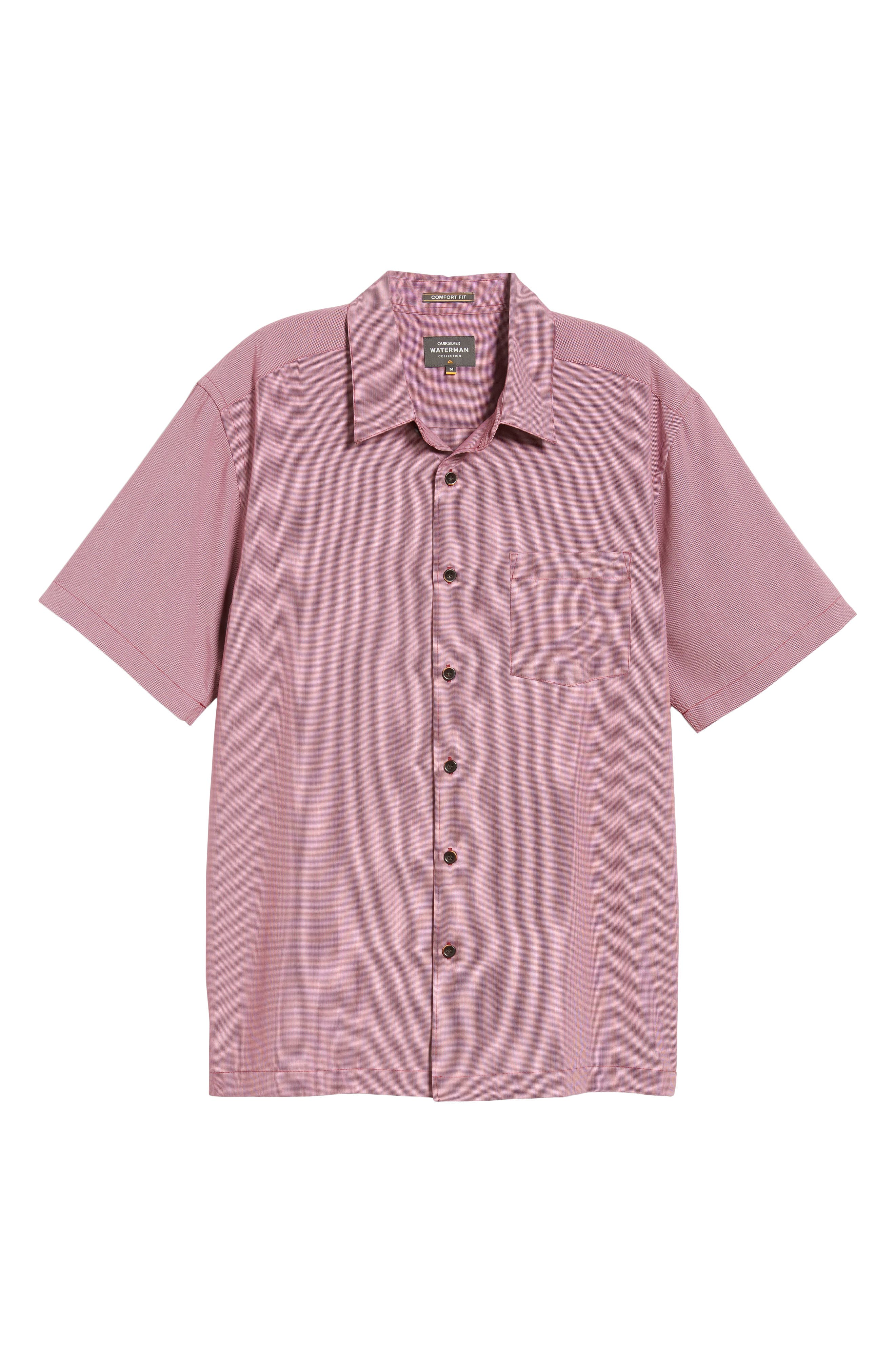 Cane Island Classic Fit Camp Shirt,                             Alternate thumbnail 5, color,                             TAWNY PORT