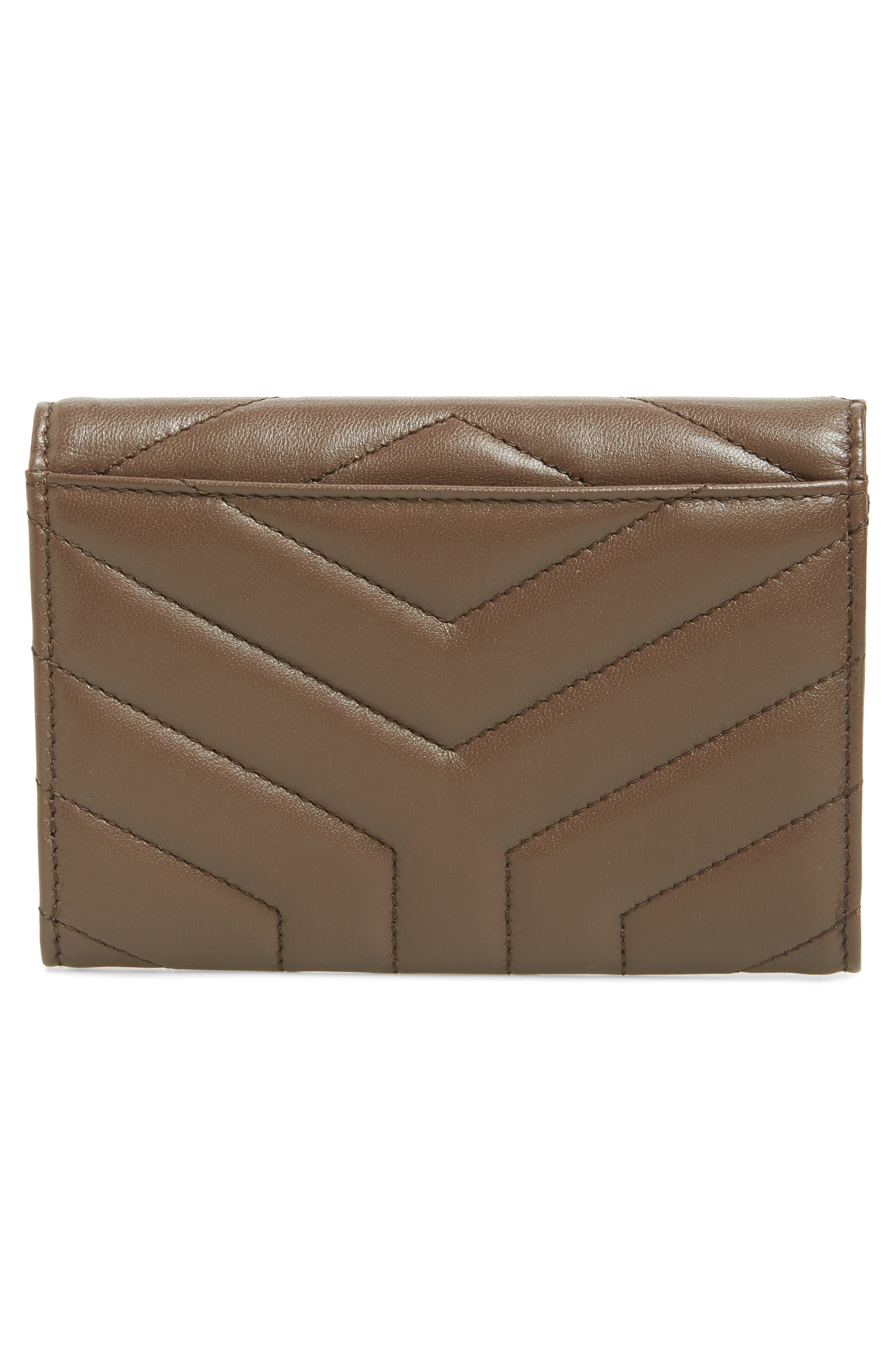 Small Loulou Matelassé Leather Wallet,                             Alternate thumbnail 4, color,                             FAGGIO