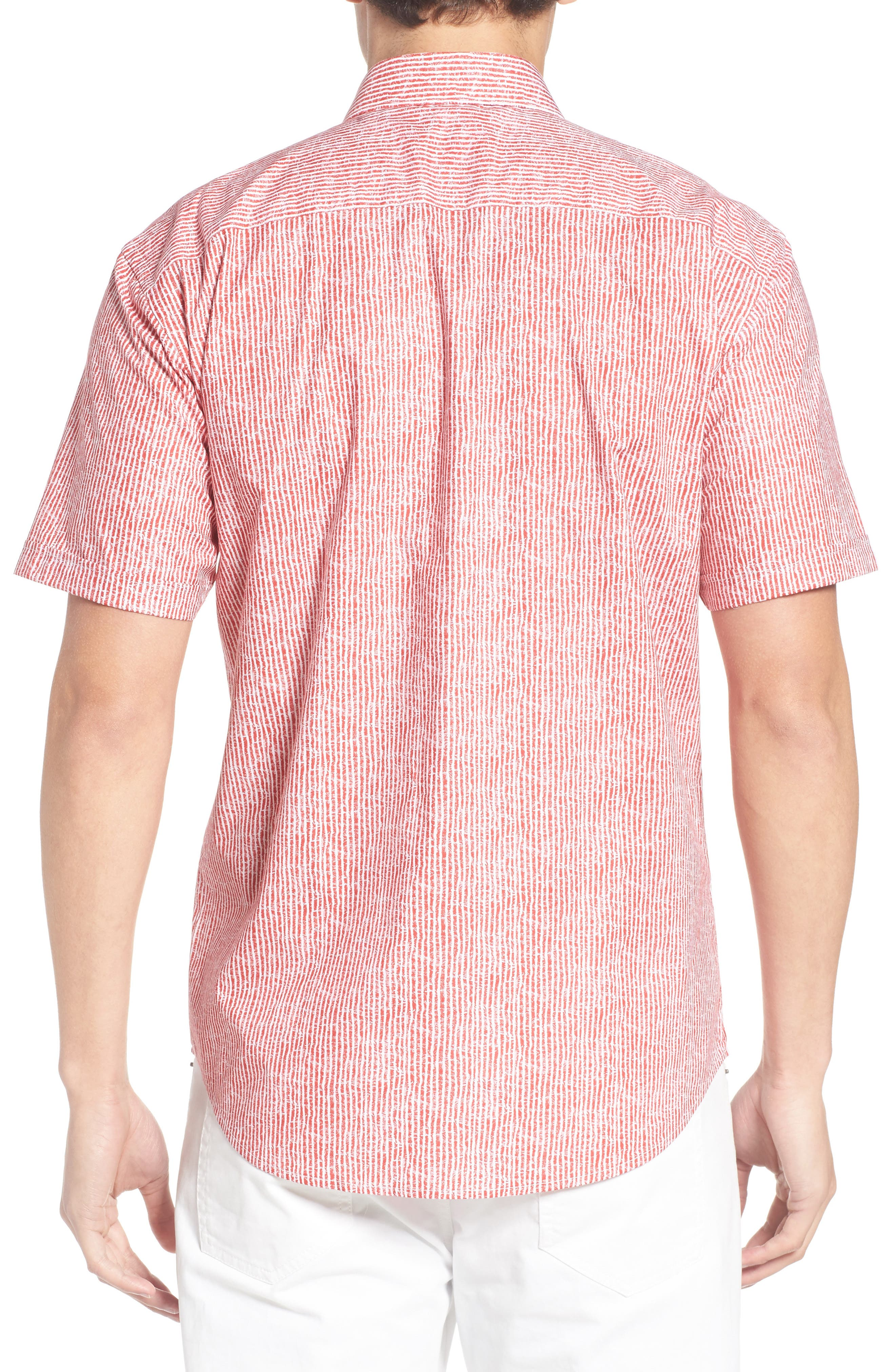 Shaped Fit Stripe Sport Shirt,                             Alternate thumbnail 16, color,