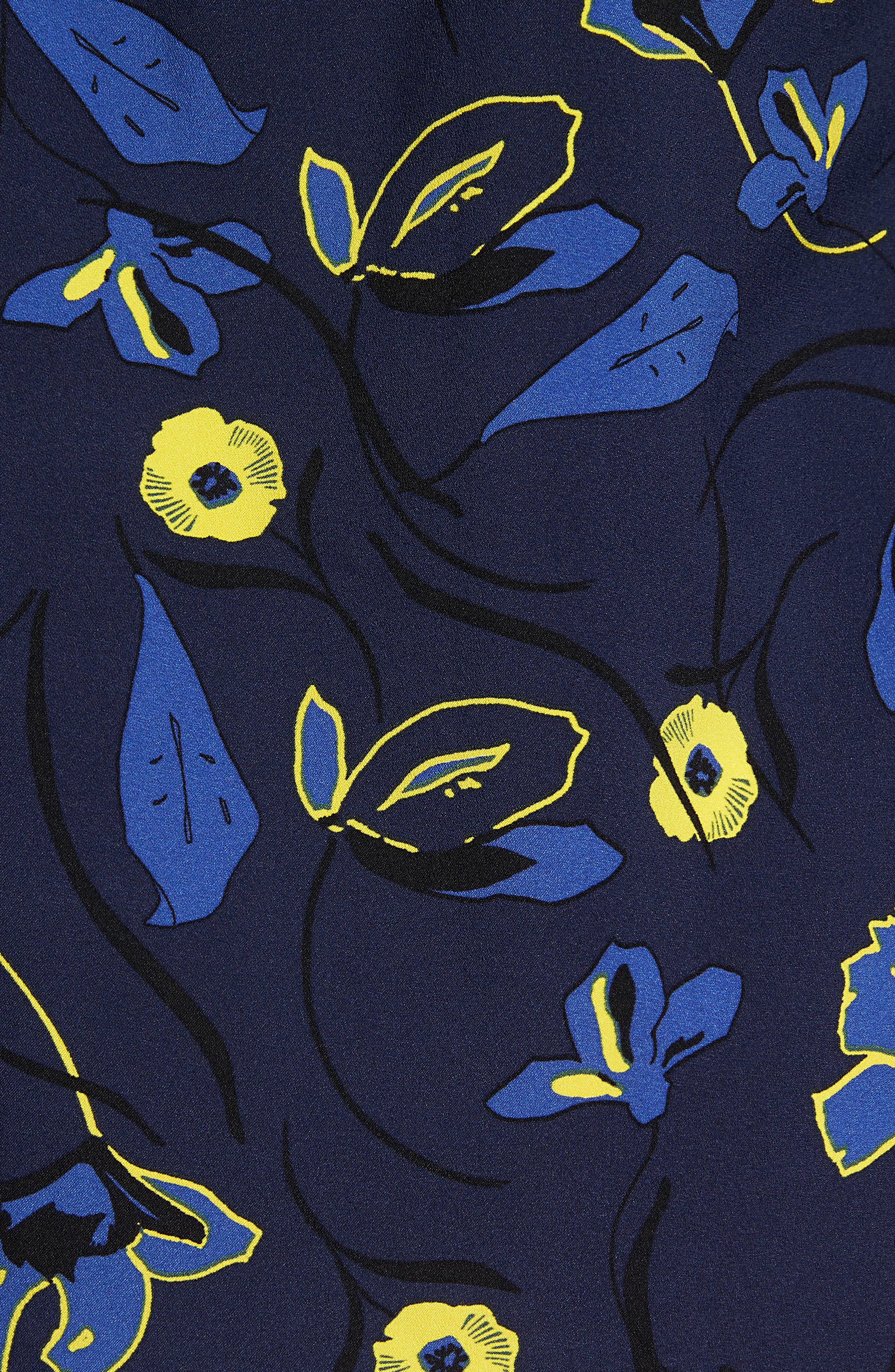 Bow Back Print Flare Sleeve Tunic,                             Alternate thumbnail 34, color,