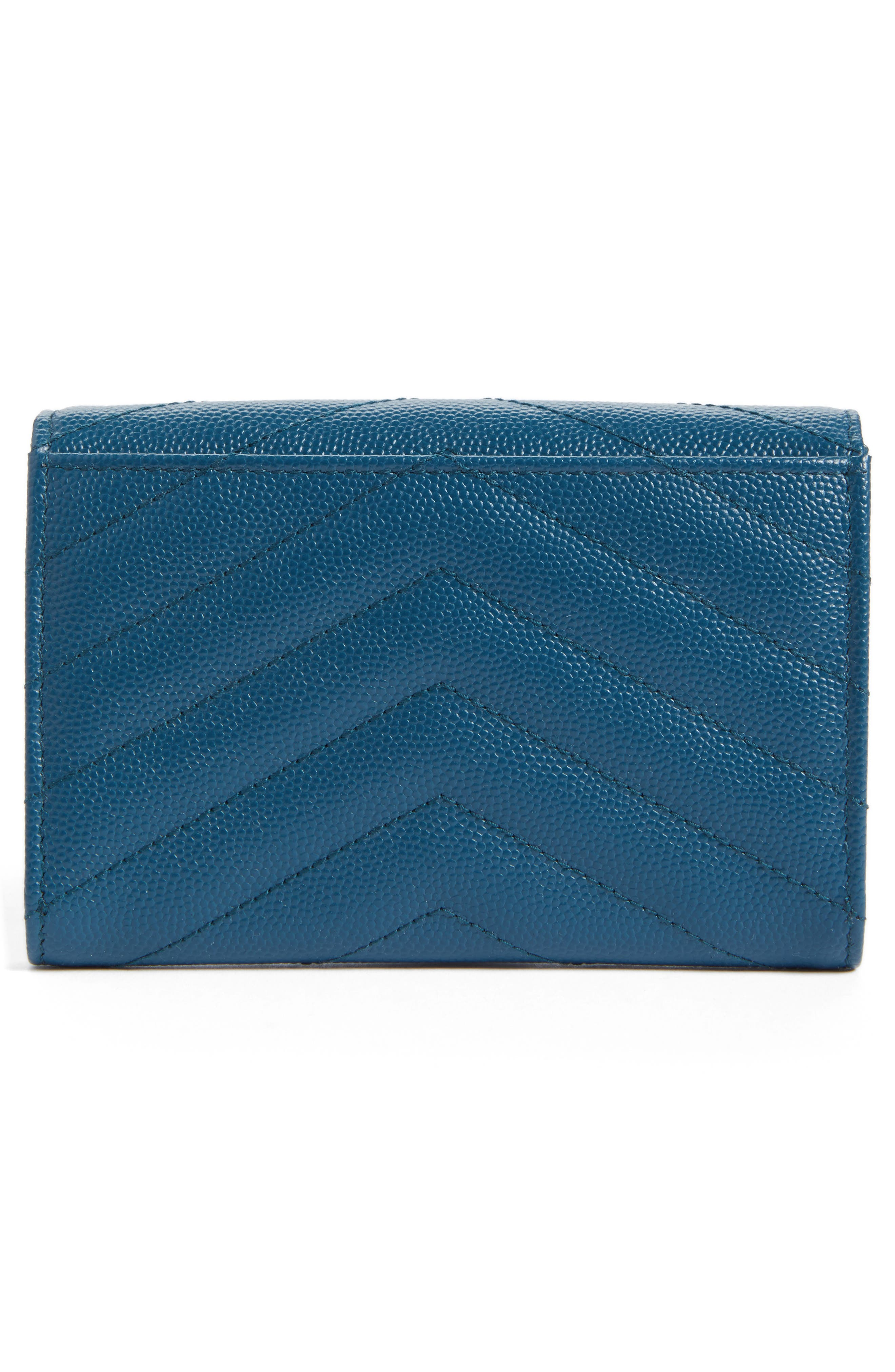 'Small Monogram' Leather French Wallet,                             Alternate thumbnail 29, color,