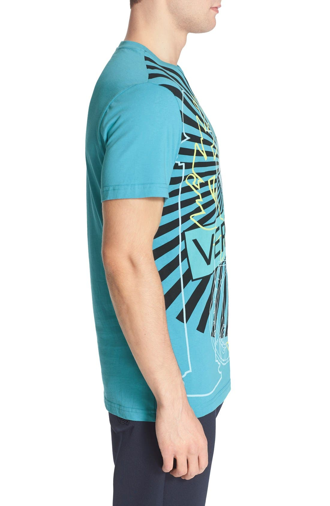 VERSACE JEANS,                             Diamond Print T-Shirt,                             Alternate thumbnail 4, color,                             440