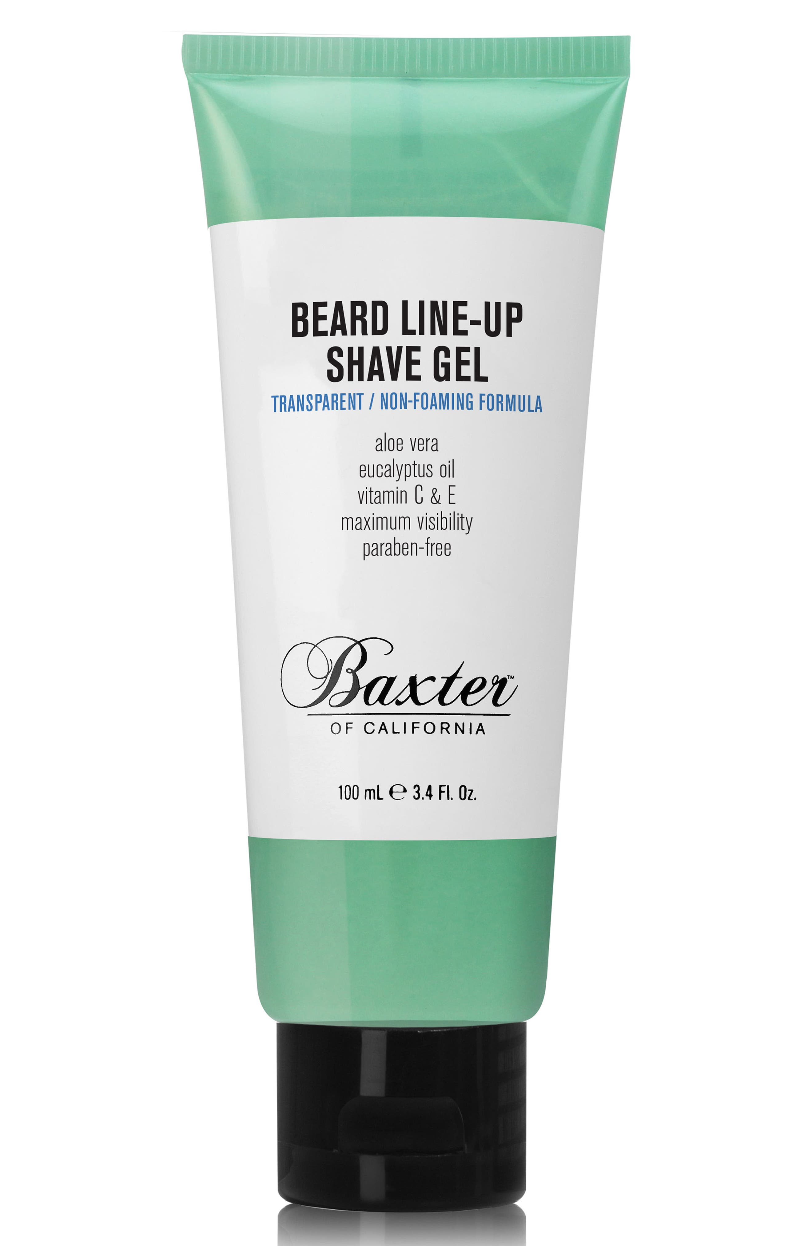 Beard Line-Up Shave Gel,                         Main,                         color, NO COLOR