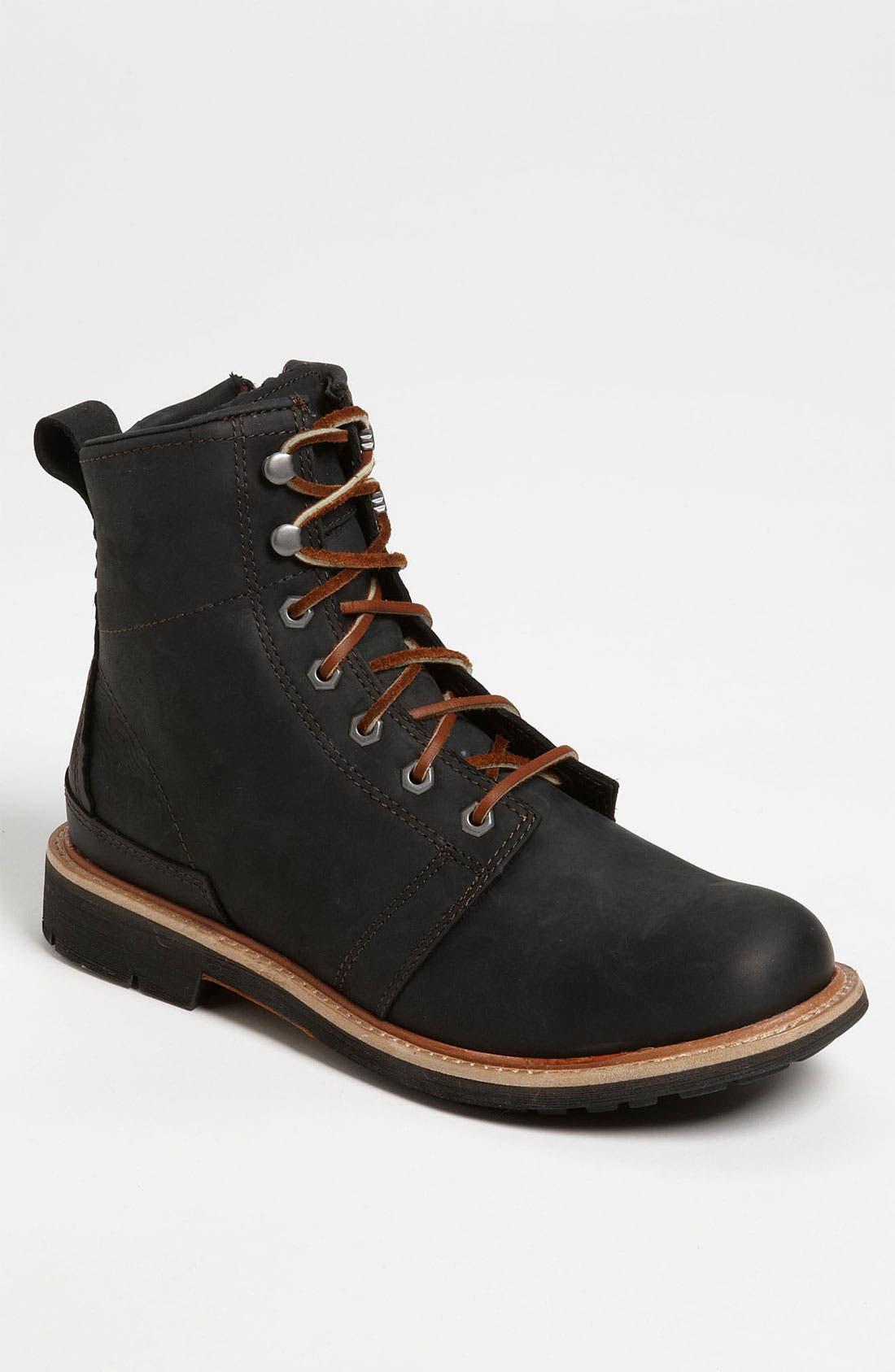 OLUKAI 'Mauna Kea' Round Toe Boot, Main, color, 001