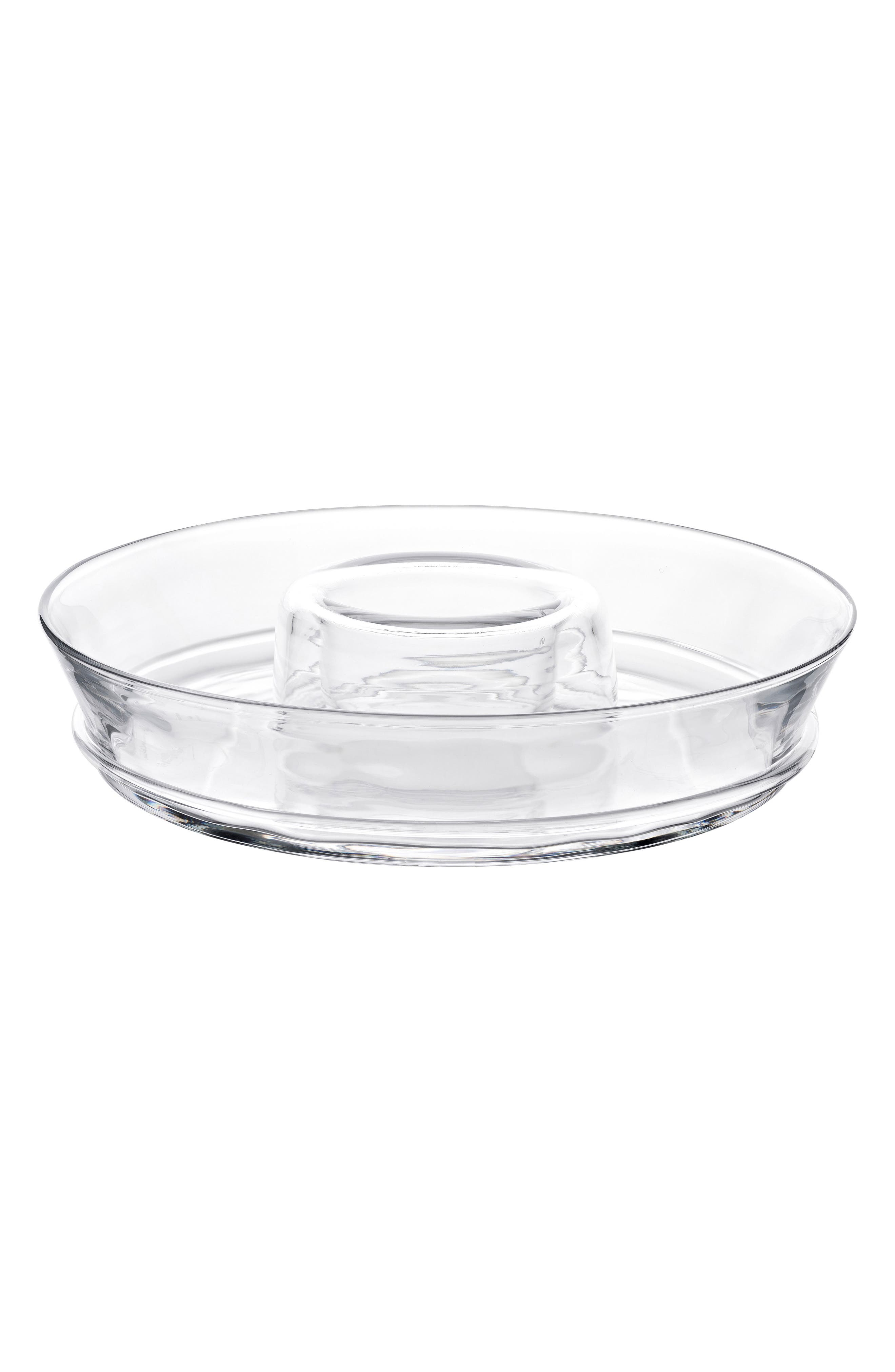 Carine Chip & Dip Serving Bowl,                         Main,                         color, CLEAR