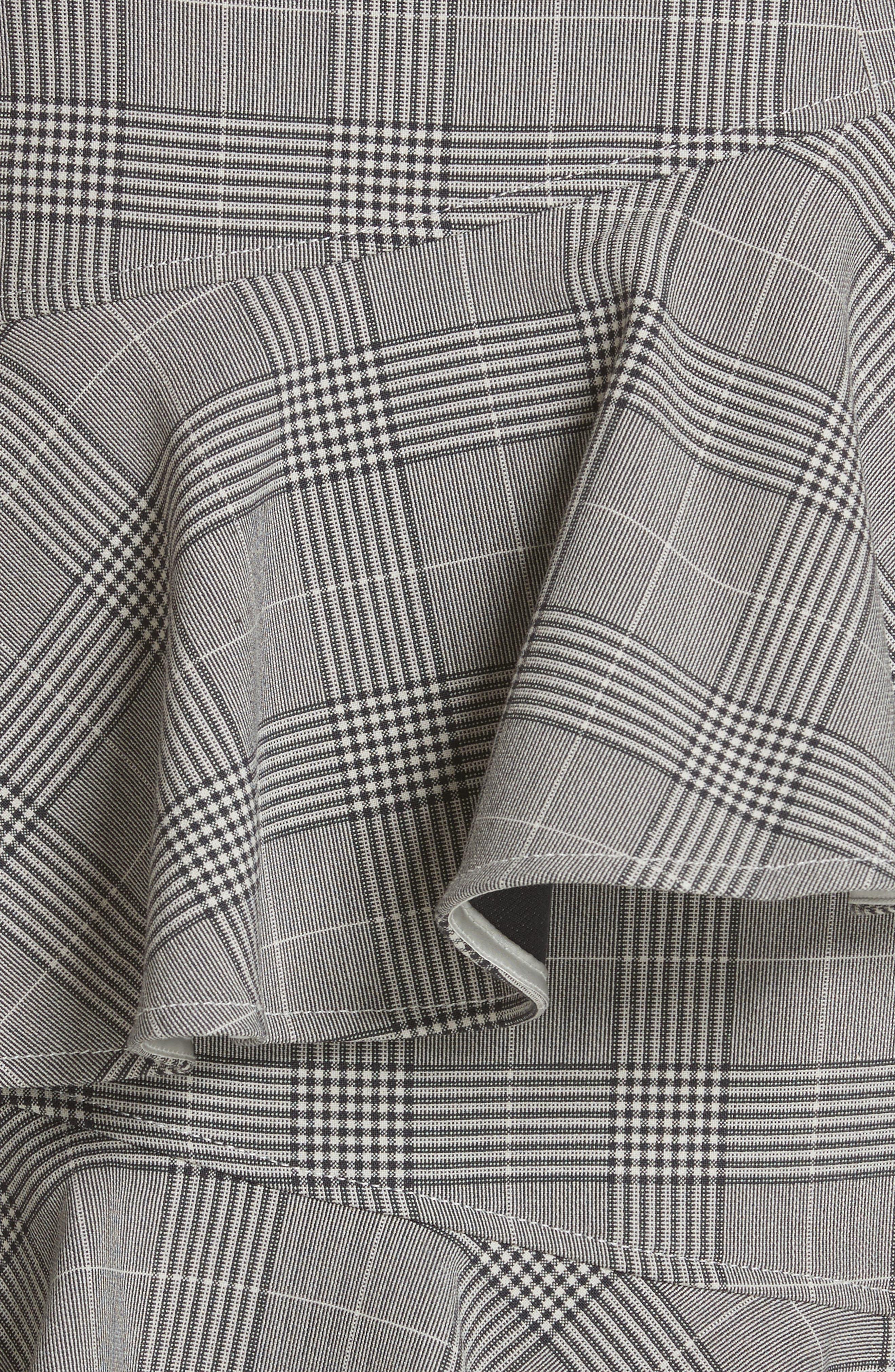 Garvey Plaid Ruffle Tier Skirt,                             Alternate thumbnail 5, color,                             020