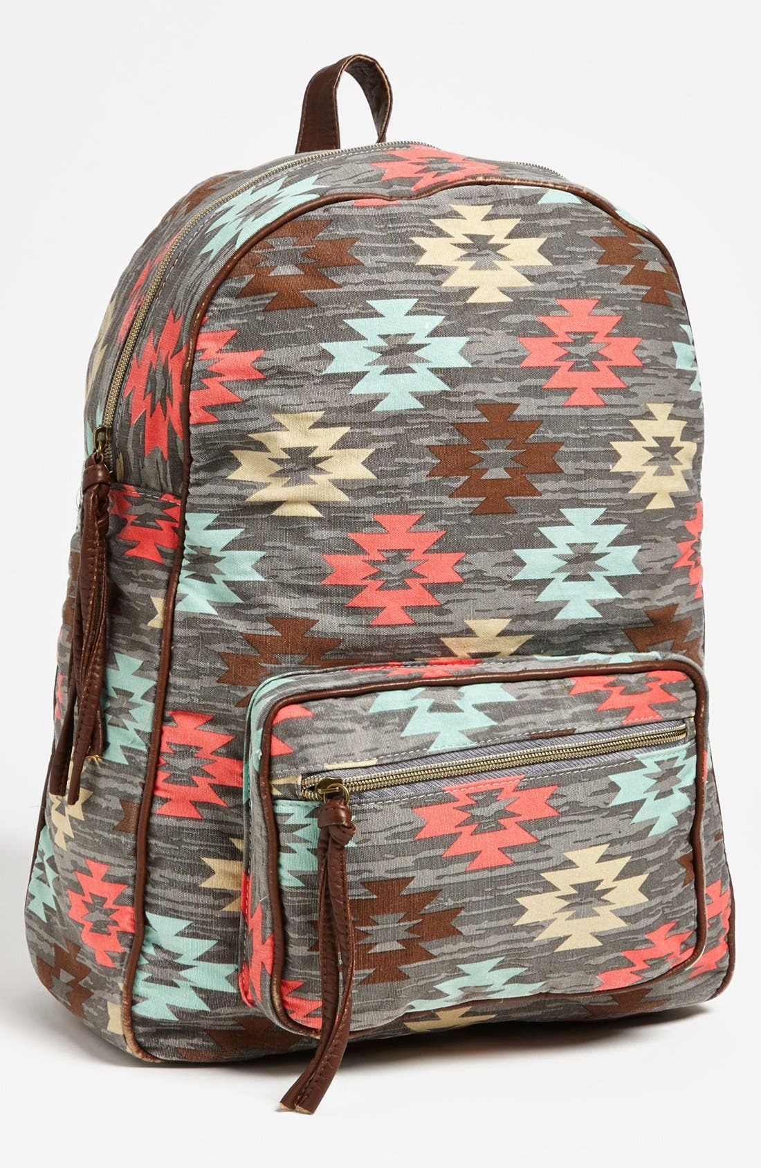 LULU,                             Print Canvas Backpack,                             Main thumbnail 1, color,                             020