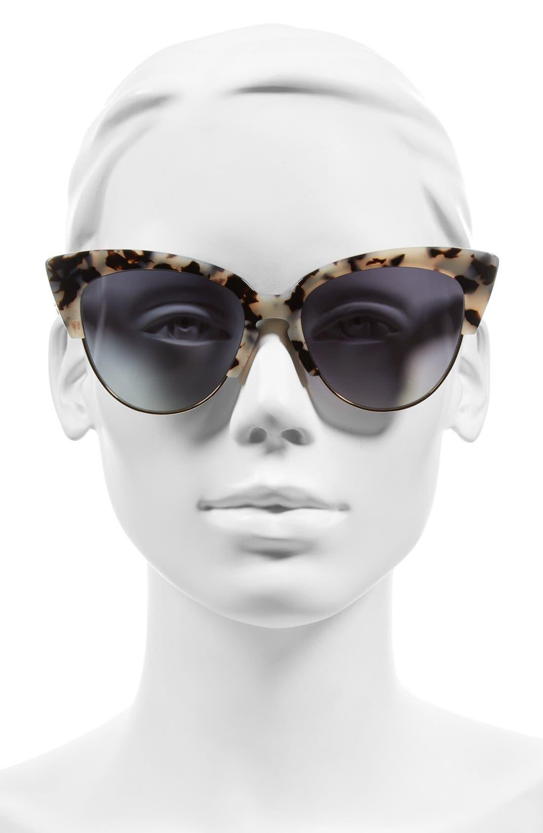 Dafni 56mm Gradient Cat Eye Sunglasses,                             Alternate thumbnail 14, color,
