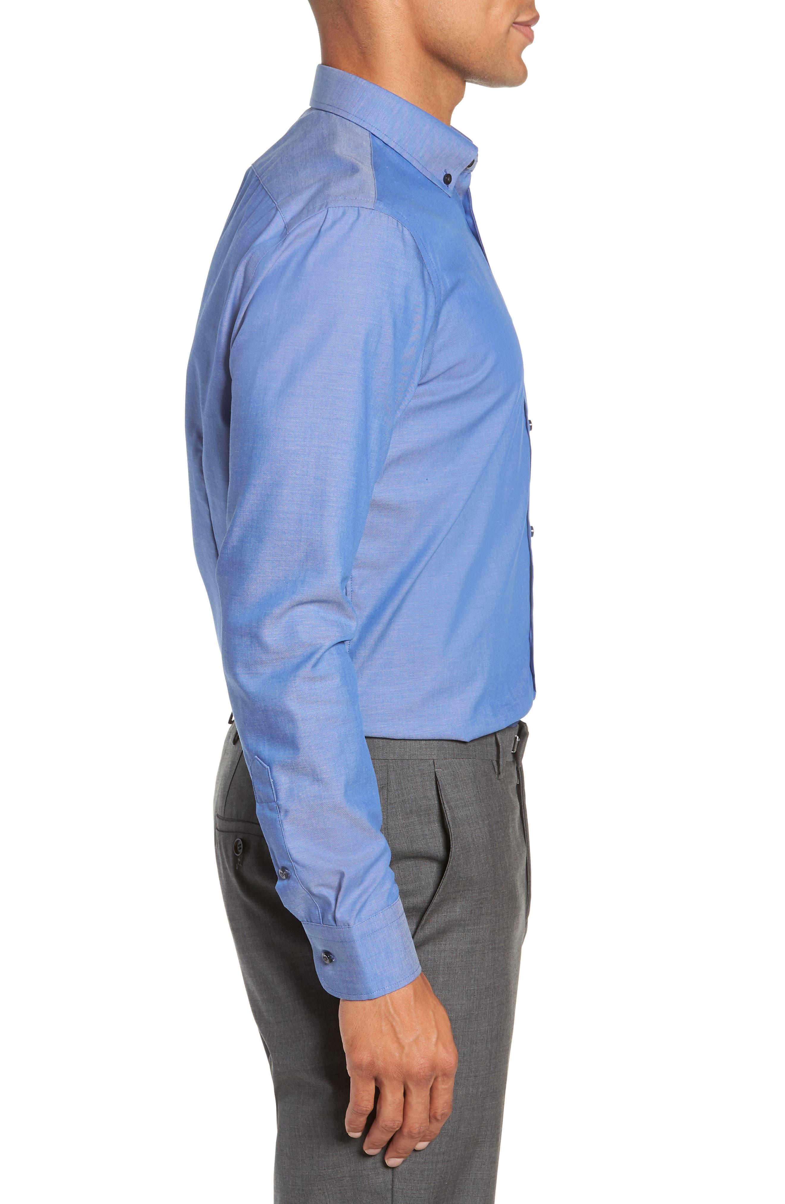Extra Trim Fit Non-Iron Dress Shirt,                             Alternate thumbnail 4, color,                             420