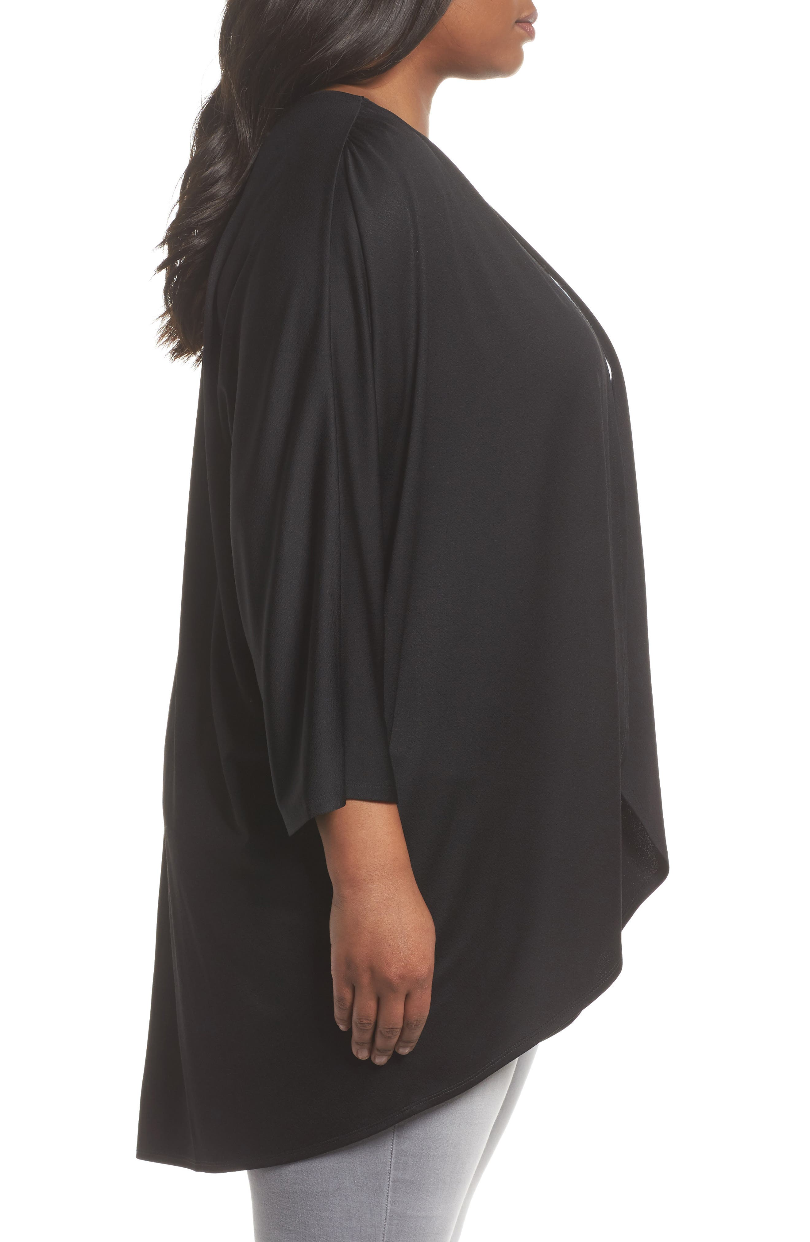 Cocoon Cardigan,                             Alternate thumbnail 3, color,                             001