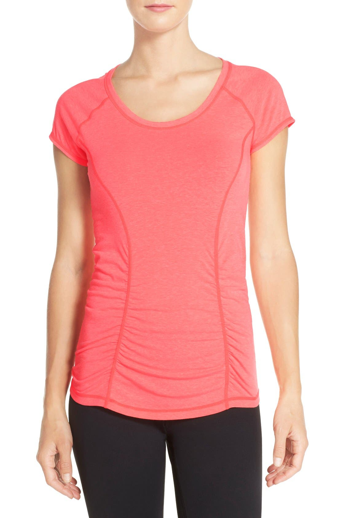 'Z 6' Ruched Tee,                             Main thumbnail 23, color,