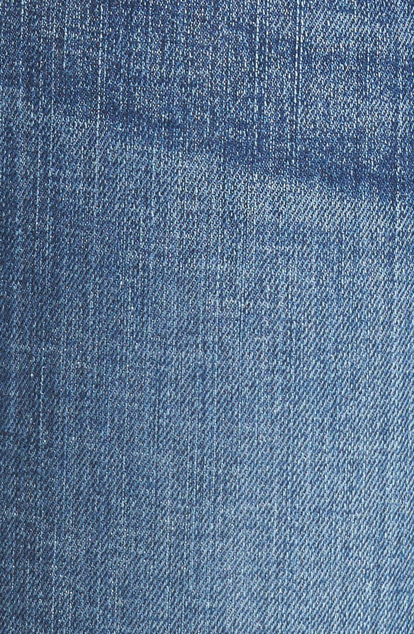 10-Inch Chewed Hem Skinny Jeans,                             Alternate thumbnail 5, color,                             400