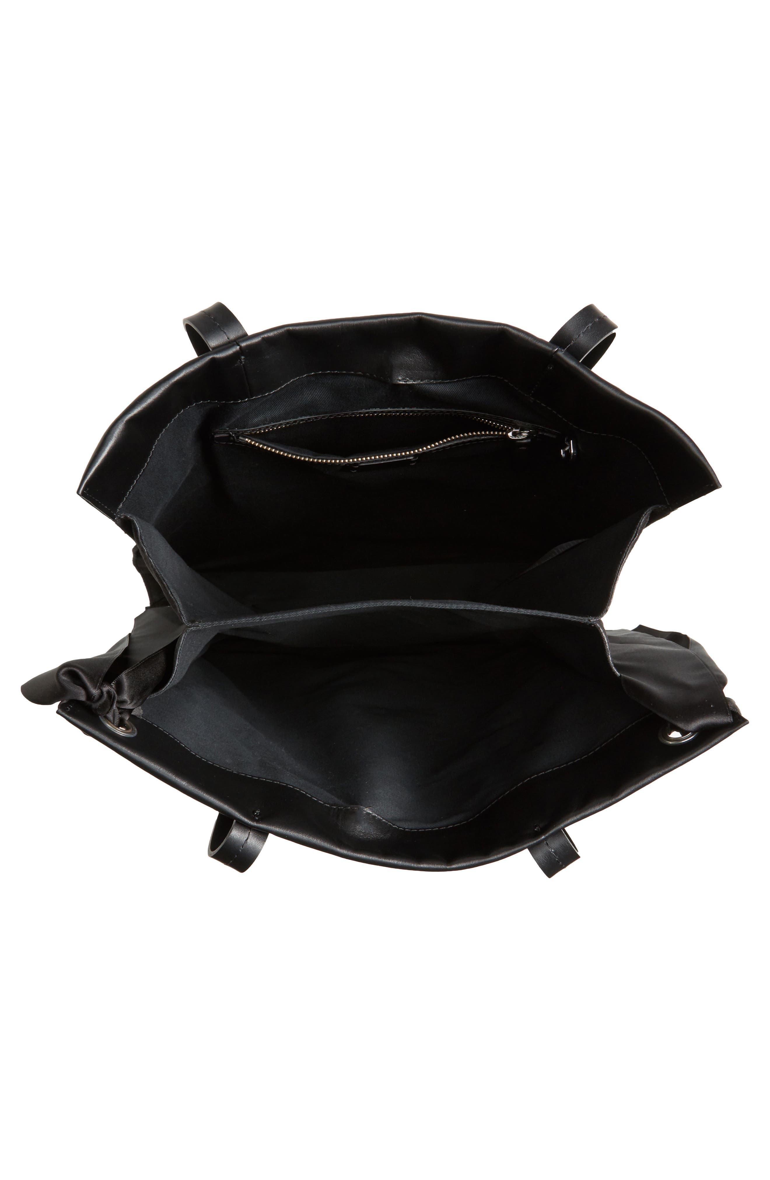 Premium Leather Grace Tote Bag,                             Alternate thumbnail 4, color,                             001