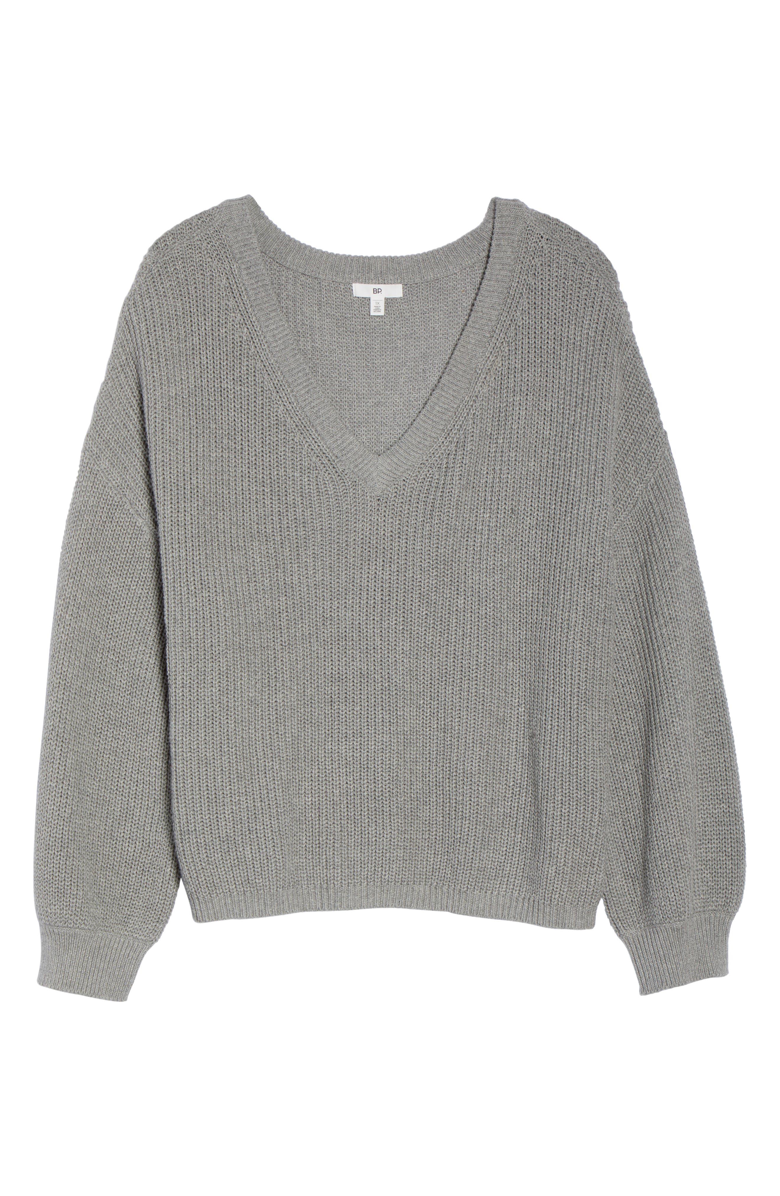 V Neck Cotton Sweater,                             Alternate thumbnail 11, color,                             030