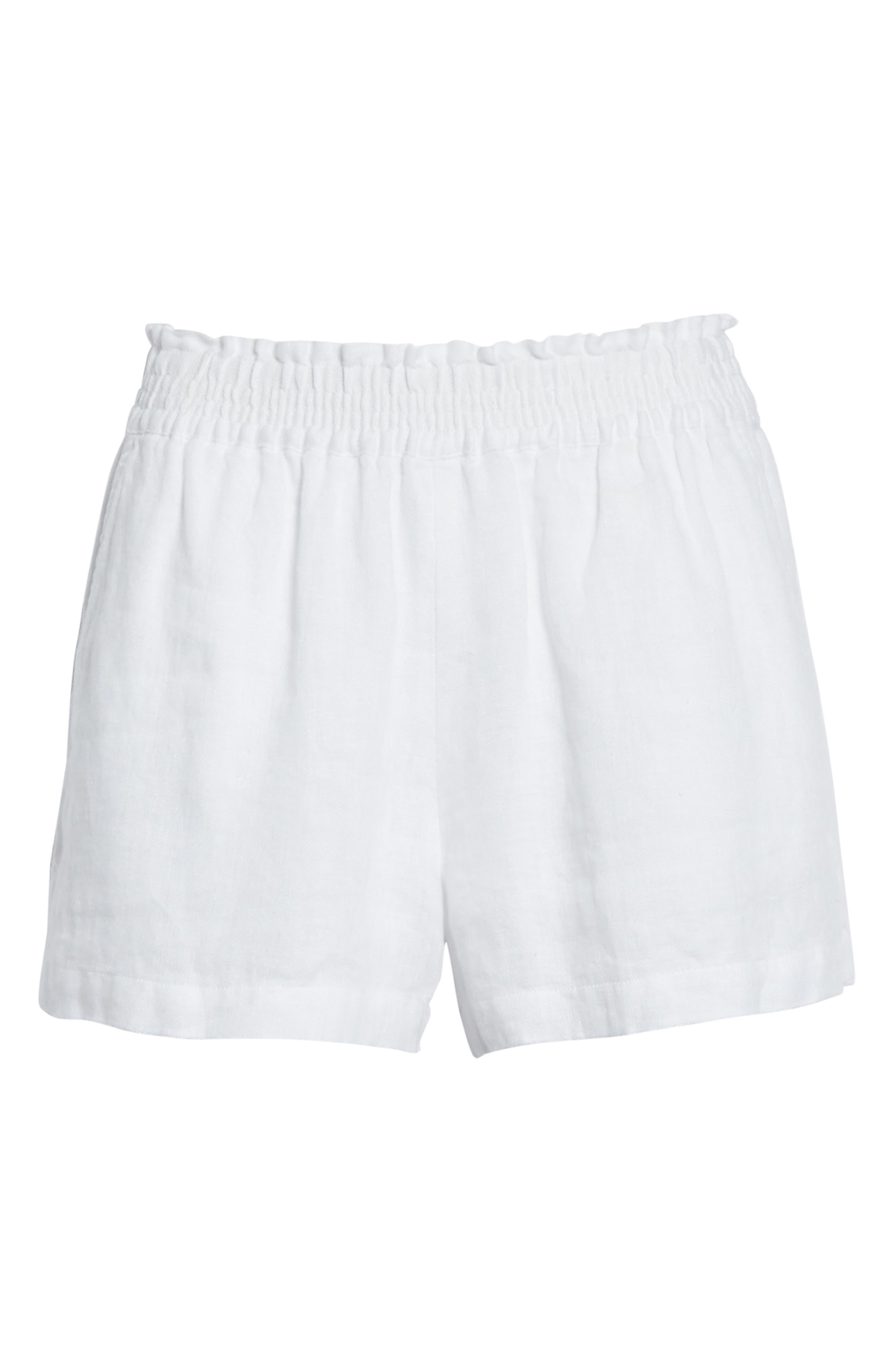 Fenna Linen Shorts,                             Alternate thumbnail 6, color,