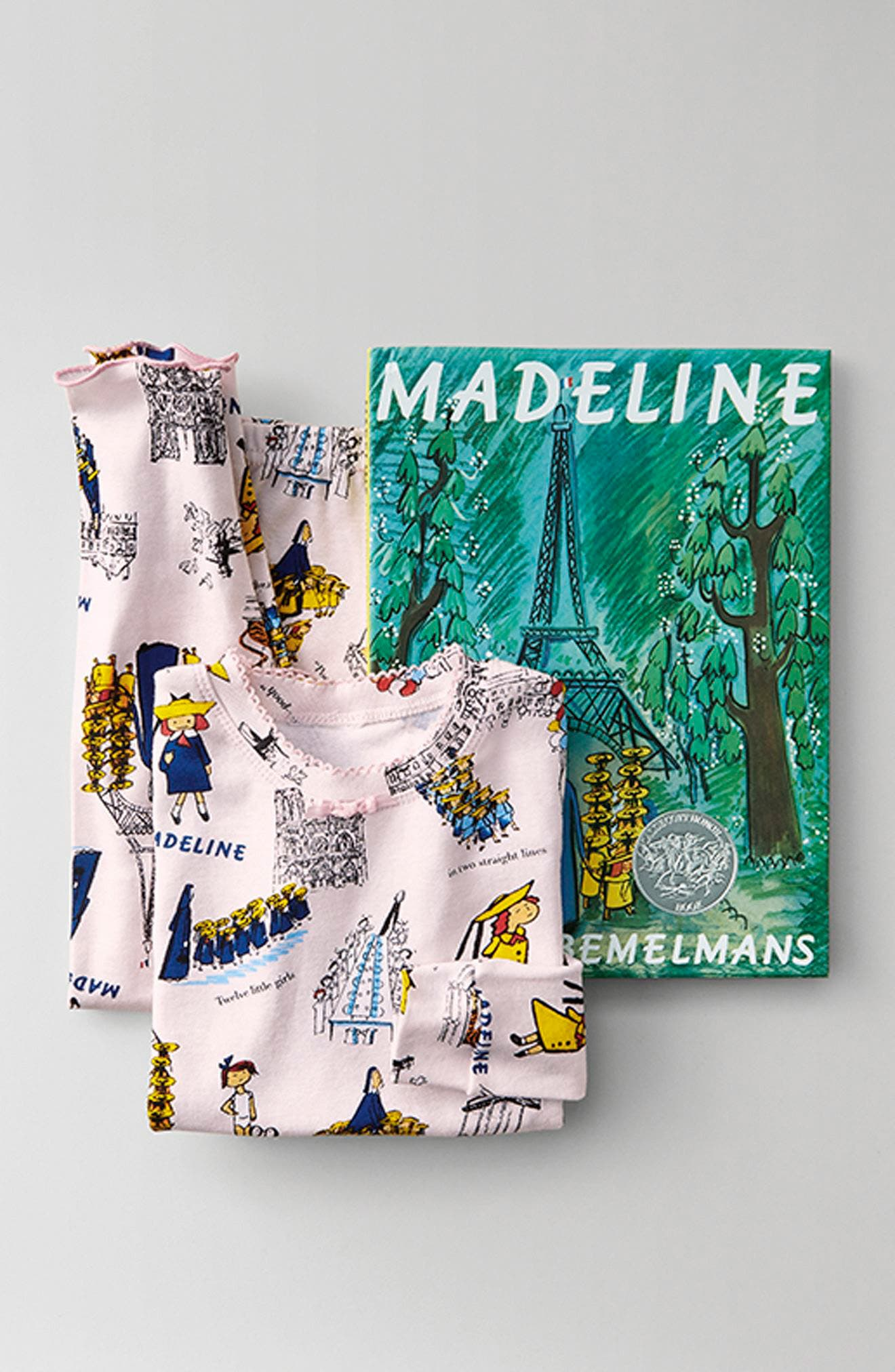 Madeline Fitted Two-Piece Pajamas & Book Set,                             Alternate thumbnail 3, color,                             680