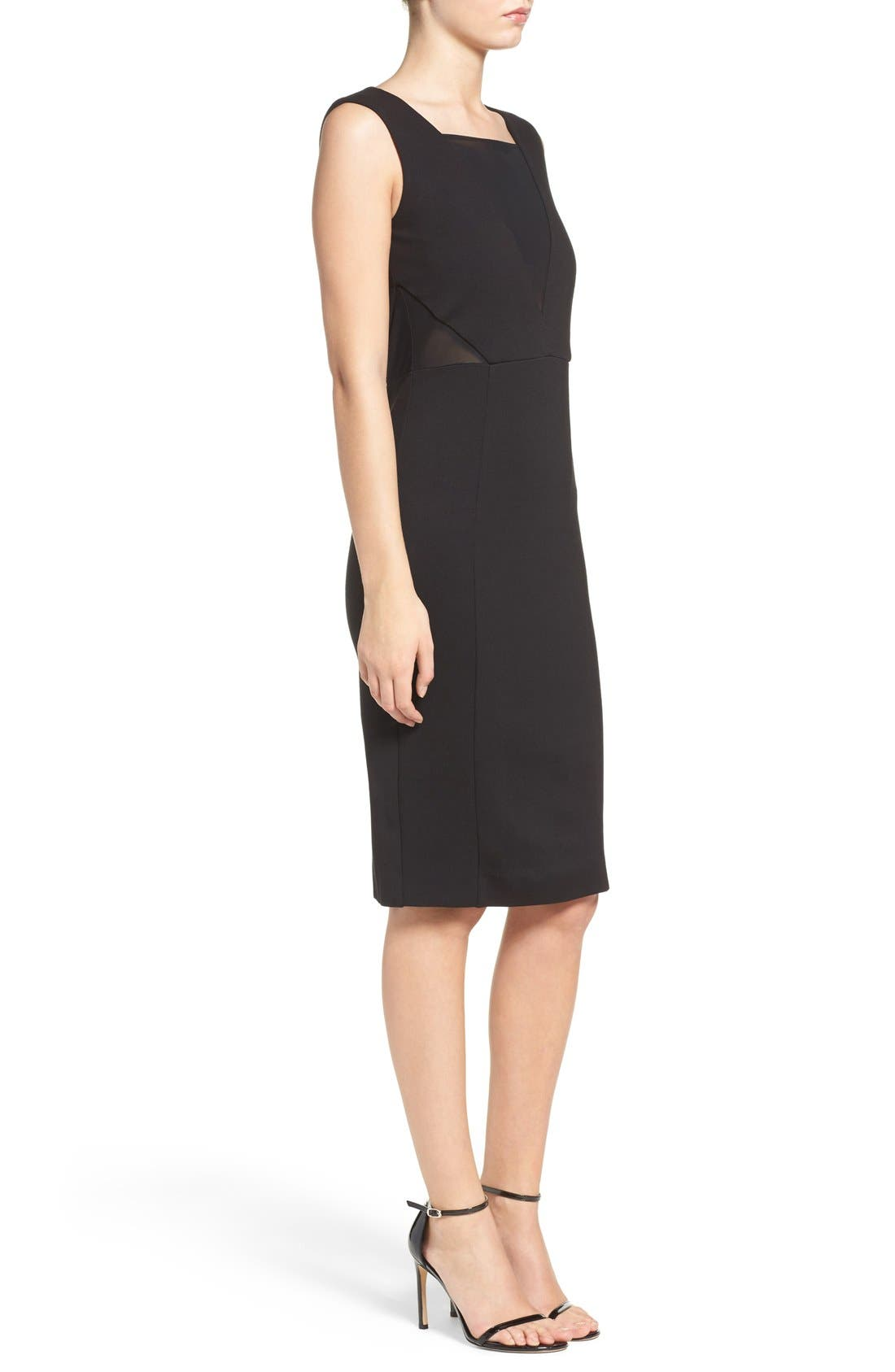 Lulu Body-Con Dress,                             Alternate thumbnail 4, color,                             001