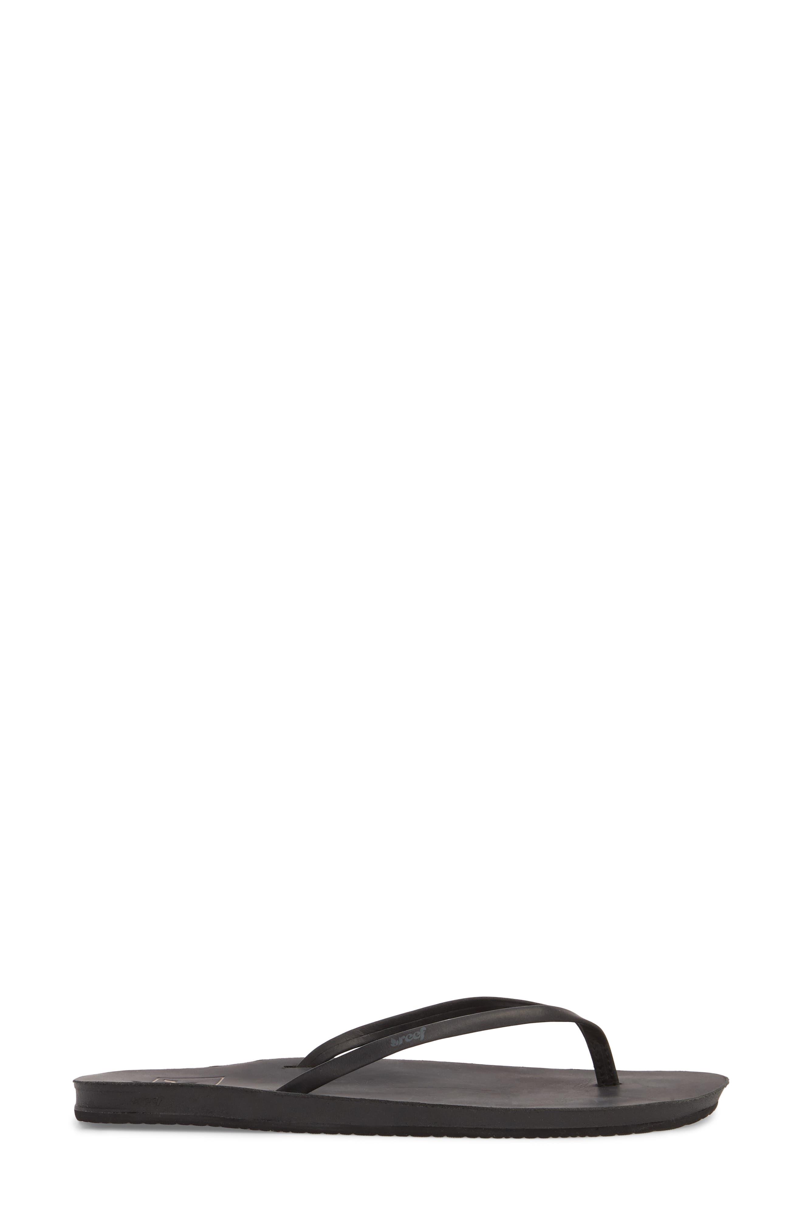 Cushion Bounce Flip Flop,                             Alternate thumbnail 3, color,                             BLACK