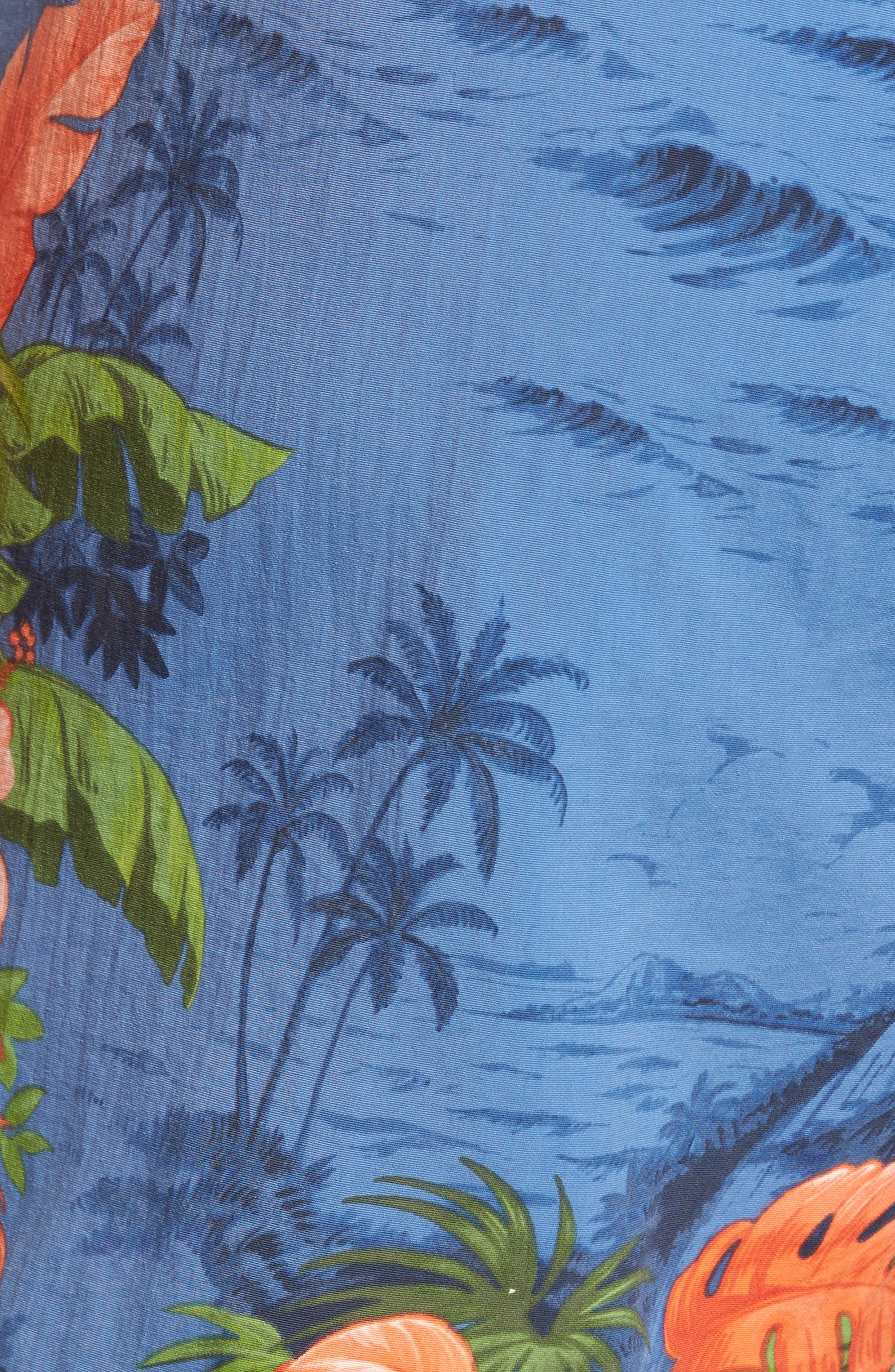 Naples Fiji Ferns Swim Trunks,                             Alternate thumbnail 5, color,                             400