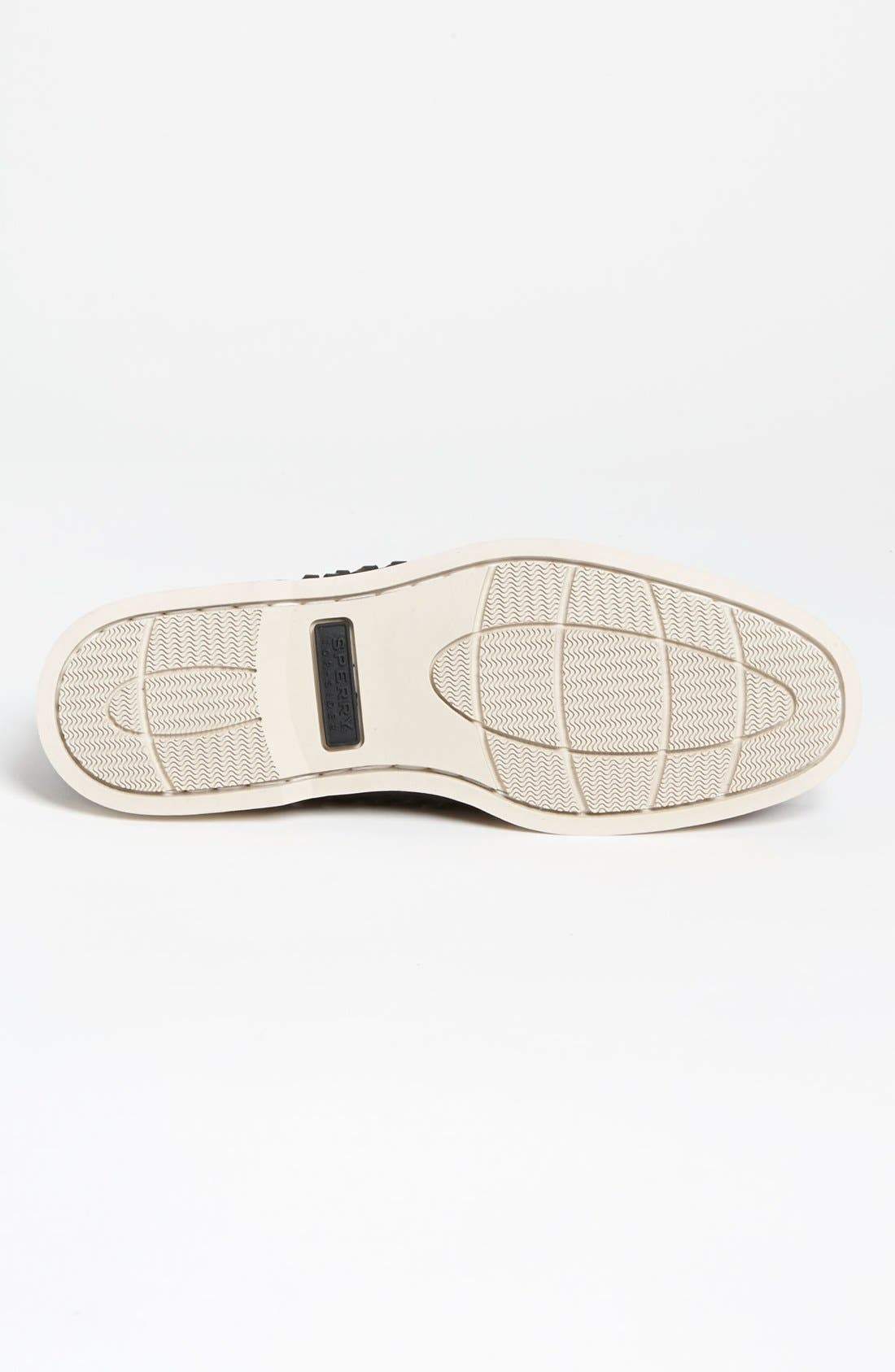 SPERRY,                             Top-Sider<sup>®</sup> 'Seaside' Woven Boat Shoe,                             Alternate thumbnail 3, color,                             001