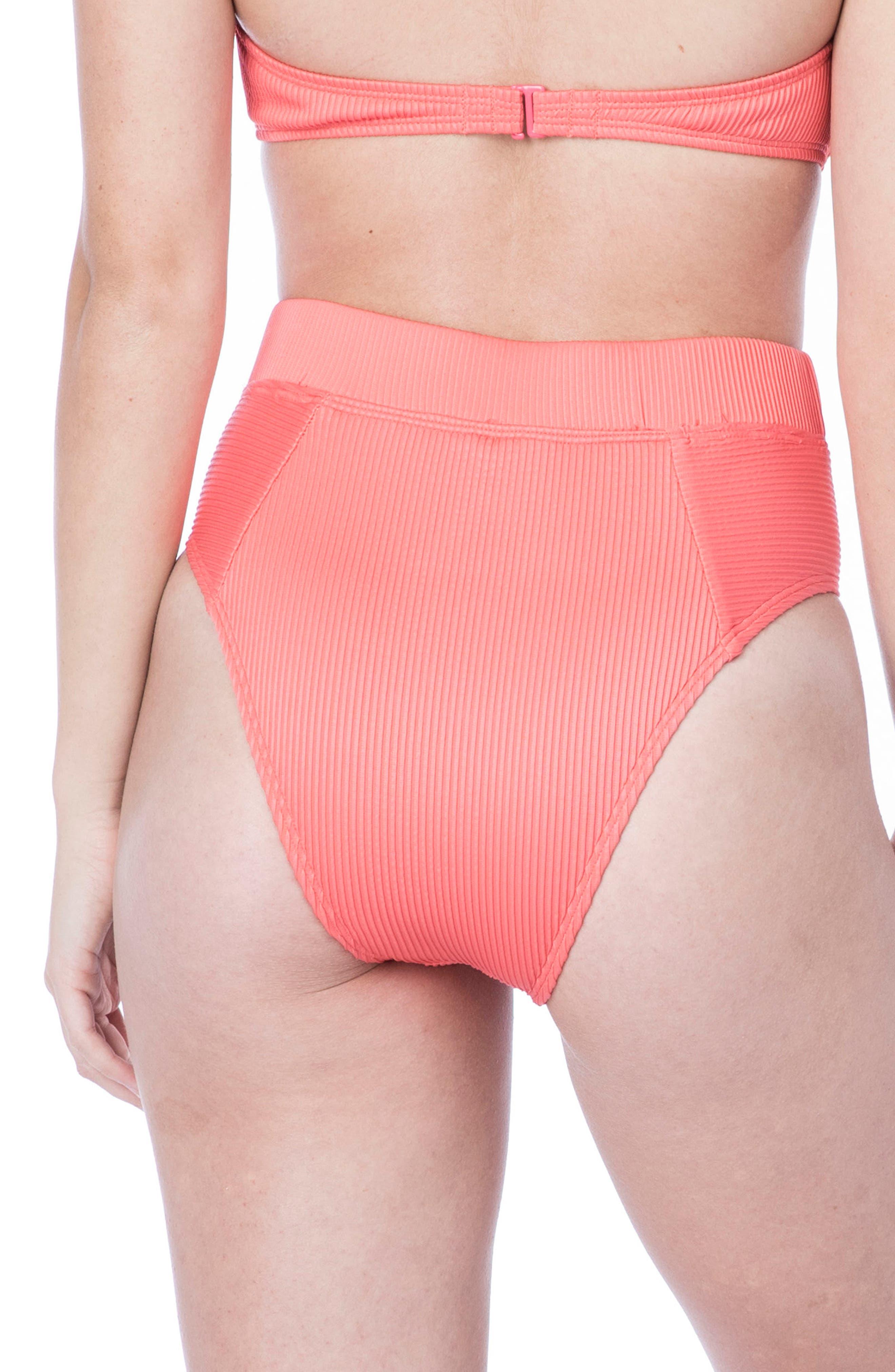 Rib-Thym High-Waist Bikini Bottoms,                             Alternate thumbnail 2, color,                             950