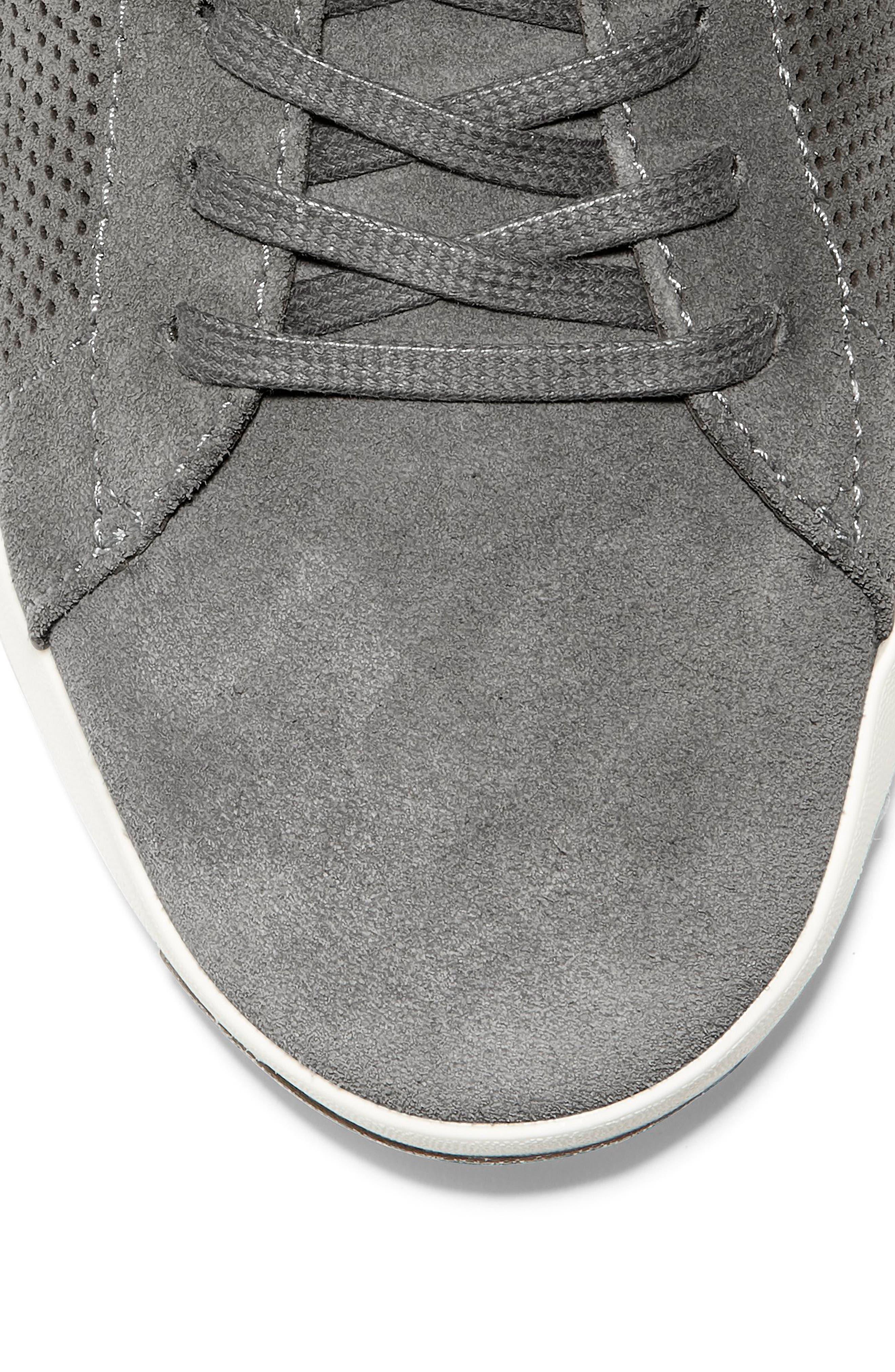 GrandPro Tennis Sneaker,                             Alternate thumbnail 7, color,                             GREY SUEDE
