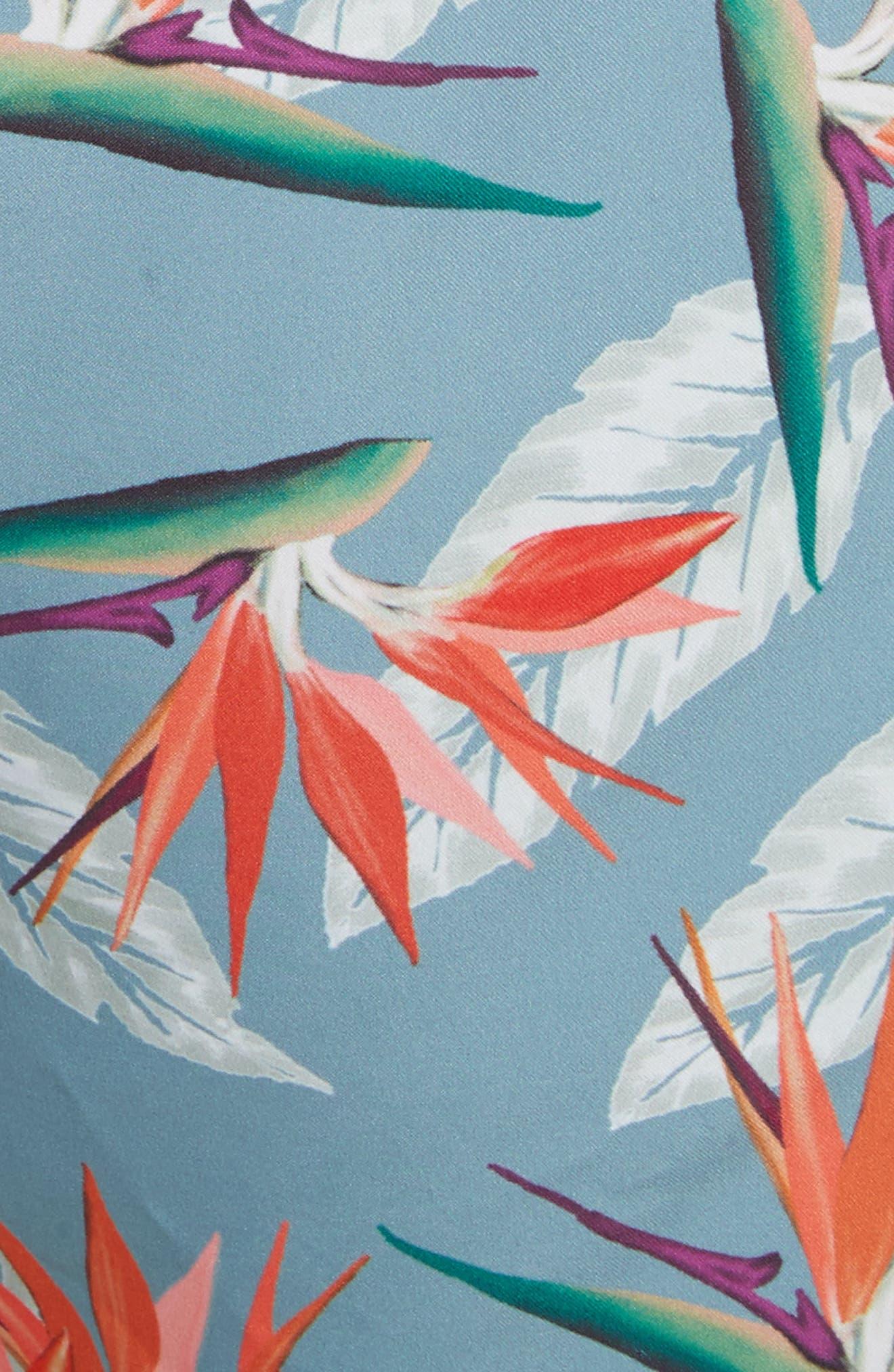 Timothy Paradise Swim Shorts,                             Alternate thumbnail 5, color,                             PARADISE PRINT